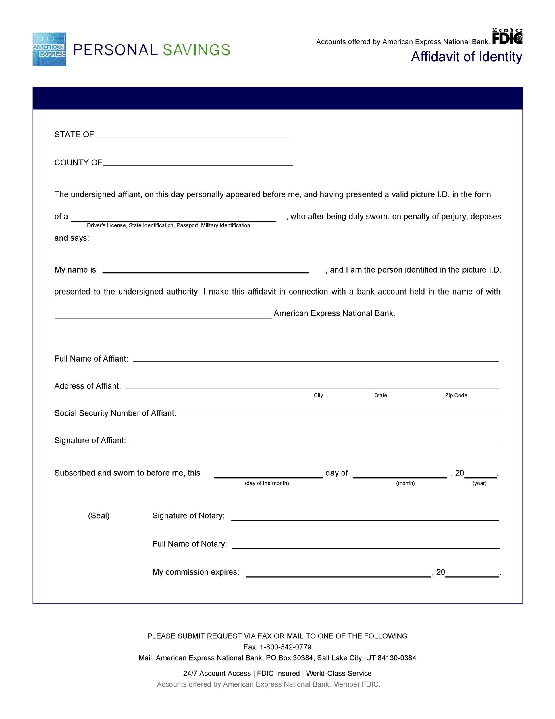 Free affidavit of identity 13