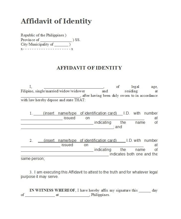 Free affidavit of identity 19