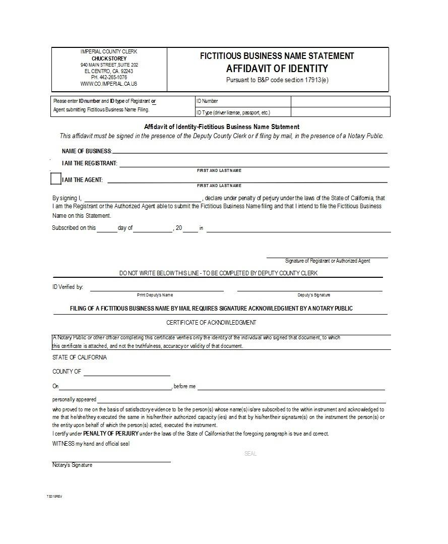 Free affidavit of identity 23