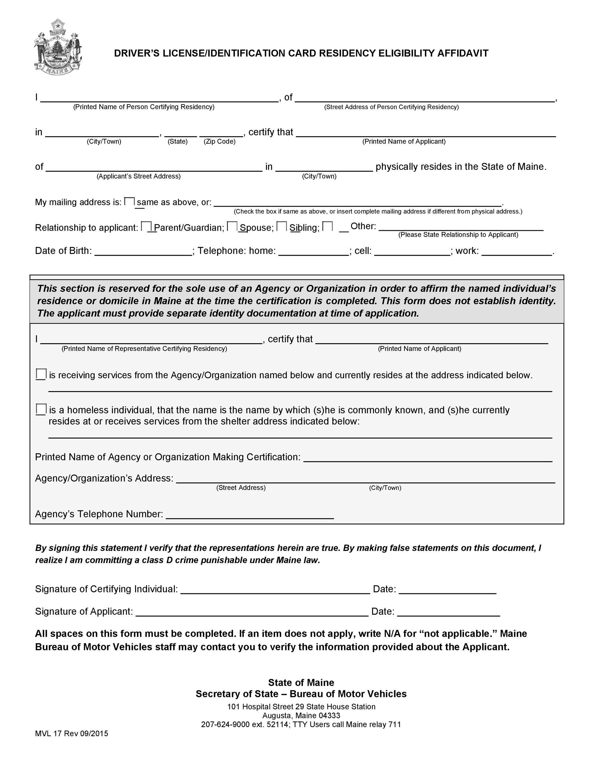 Free affidavit of identity 28