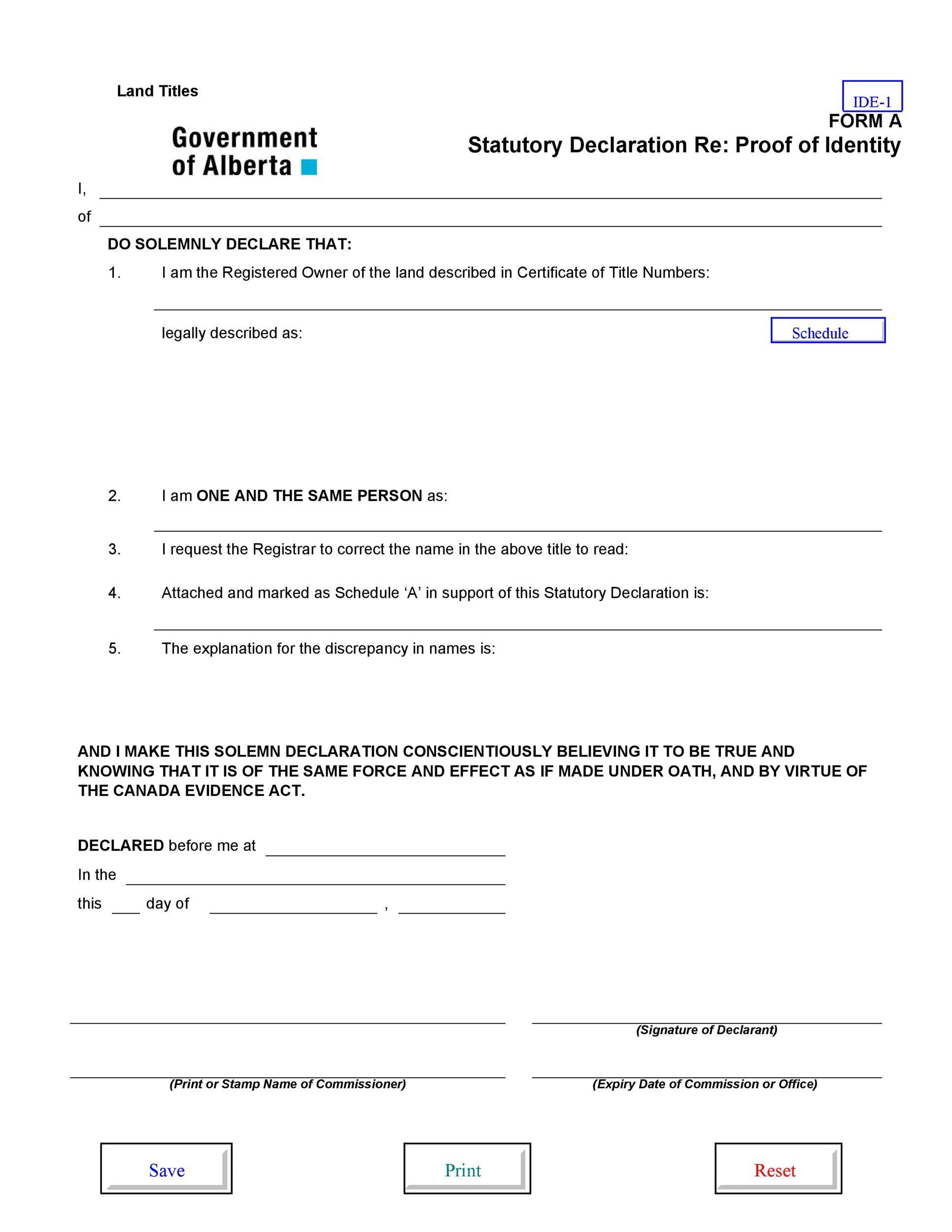 Free affidavit of identity 31