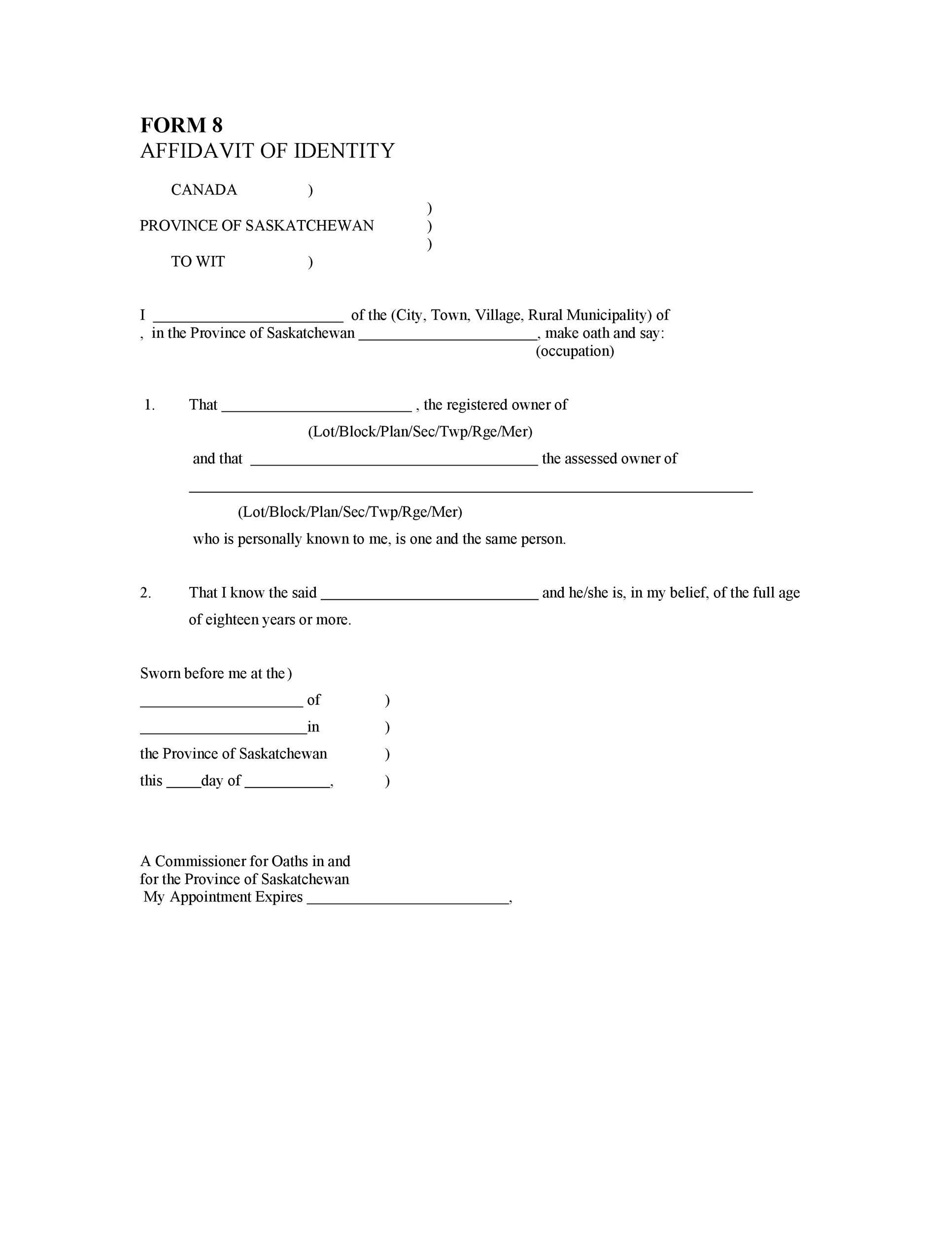 Free affidavit of identity 32