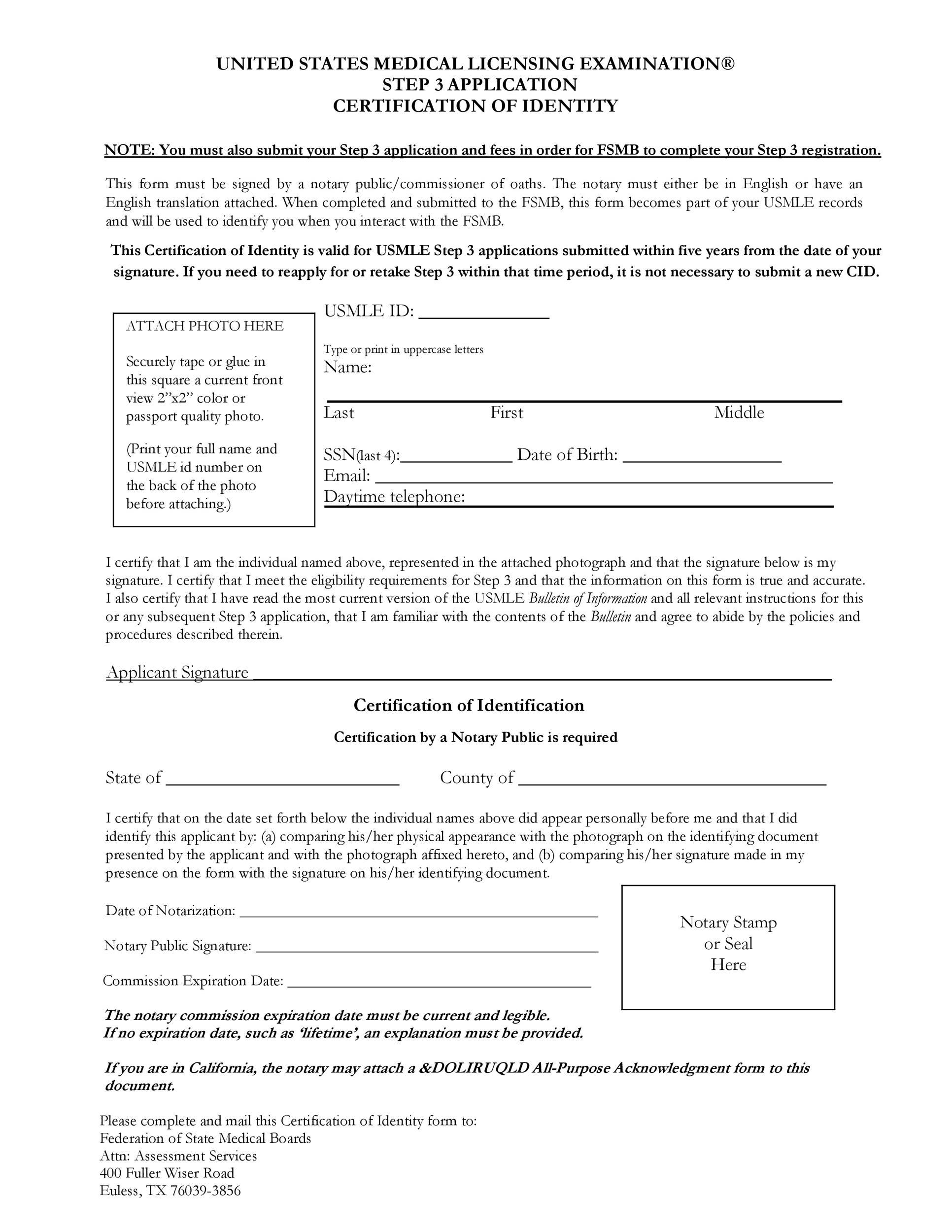 Free affidavit of identity 46