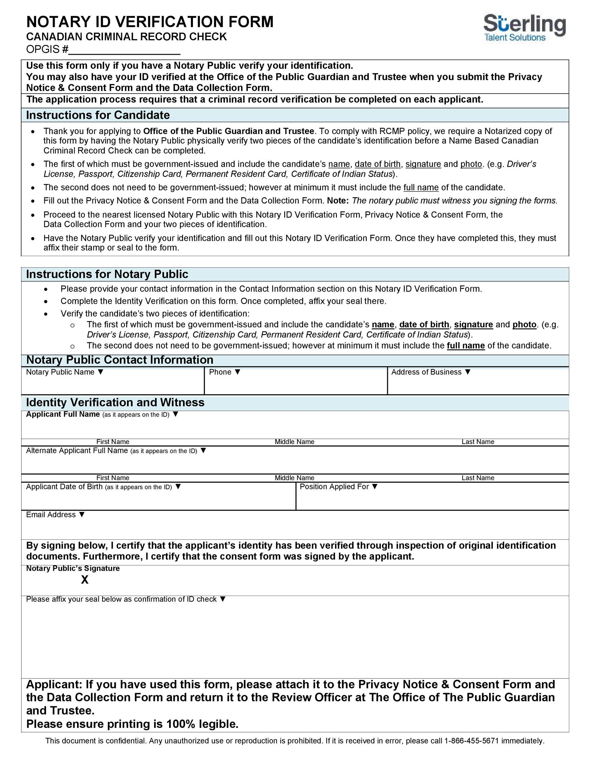 48 Free Affidavit of Identity Forms (MS Word) ᐅ Template Lab