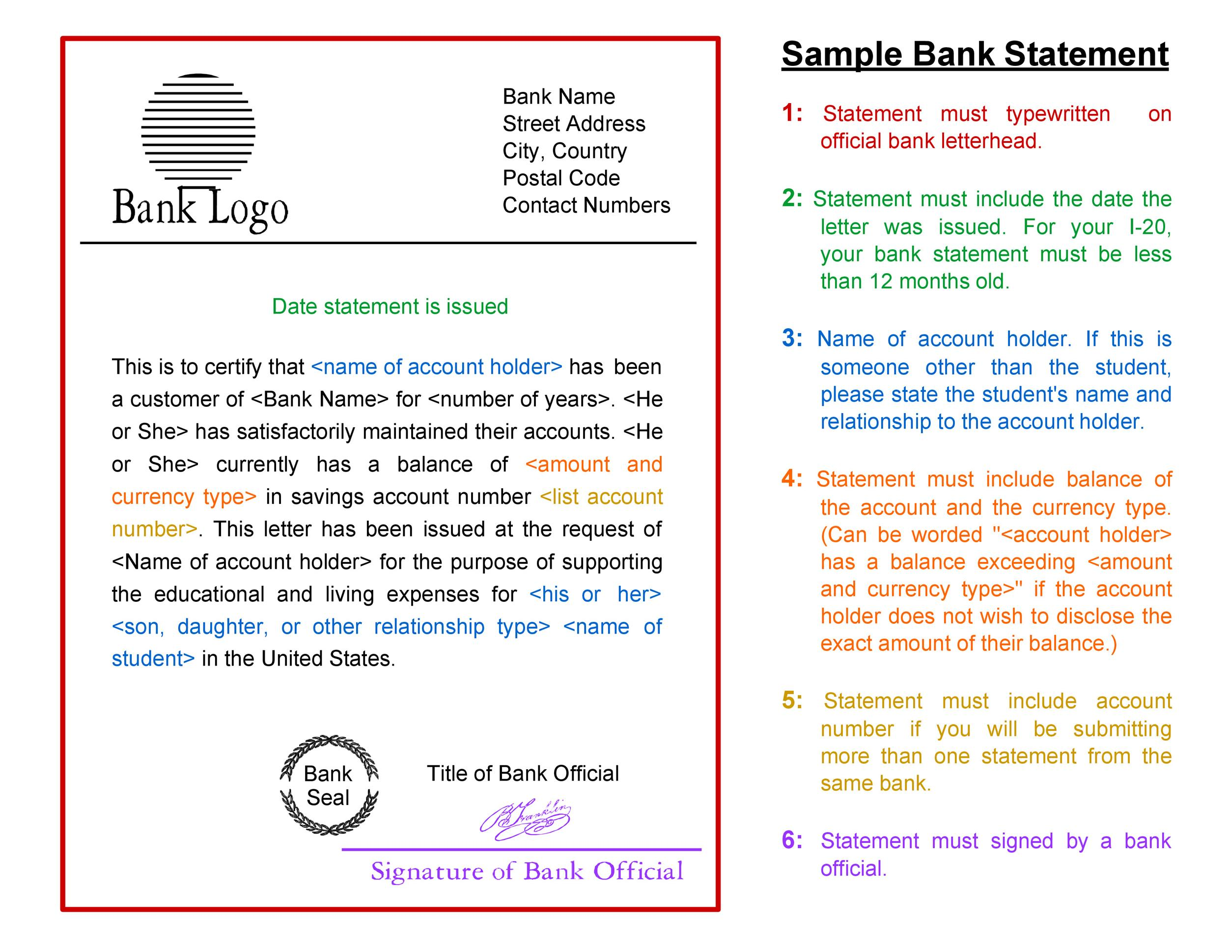 Free bank statement template 14