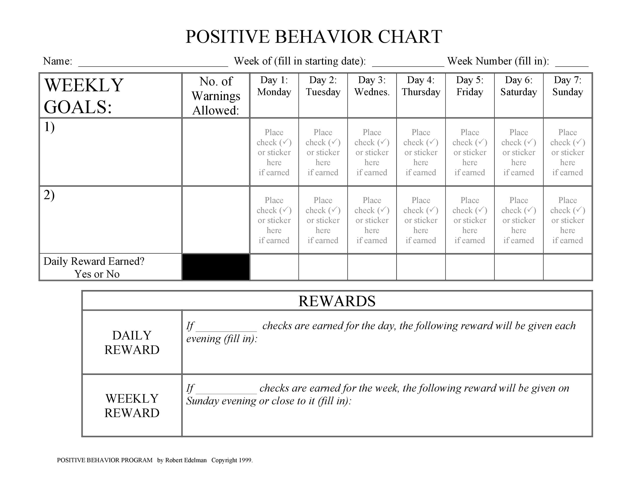 Free behavior chart 04
