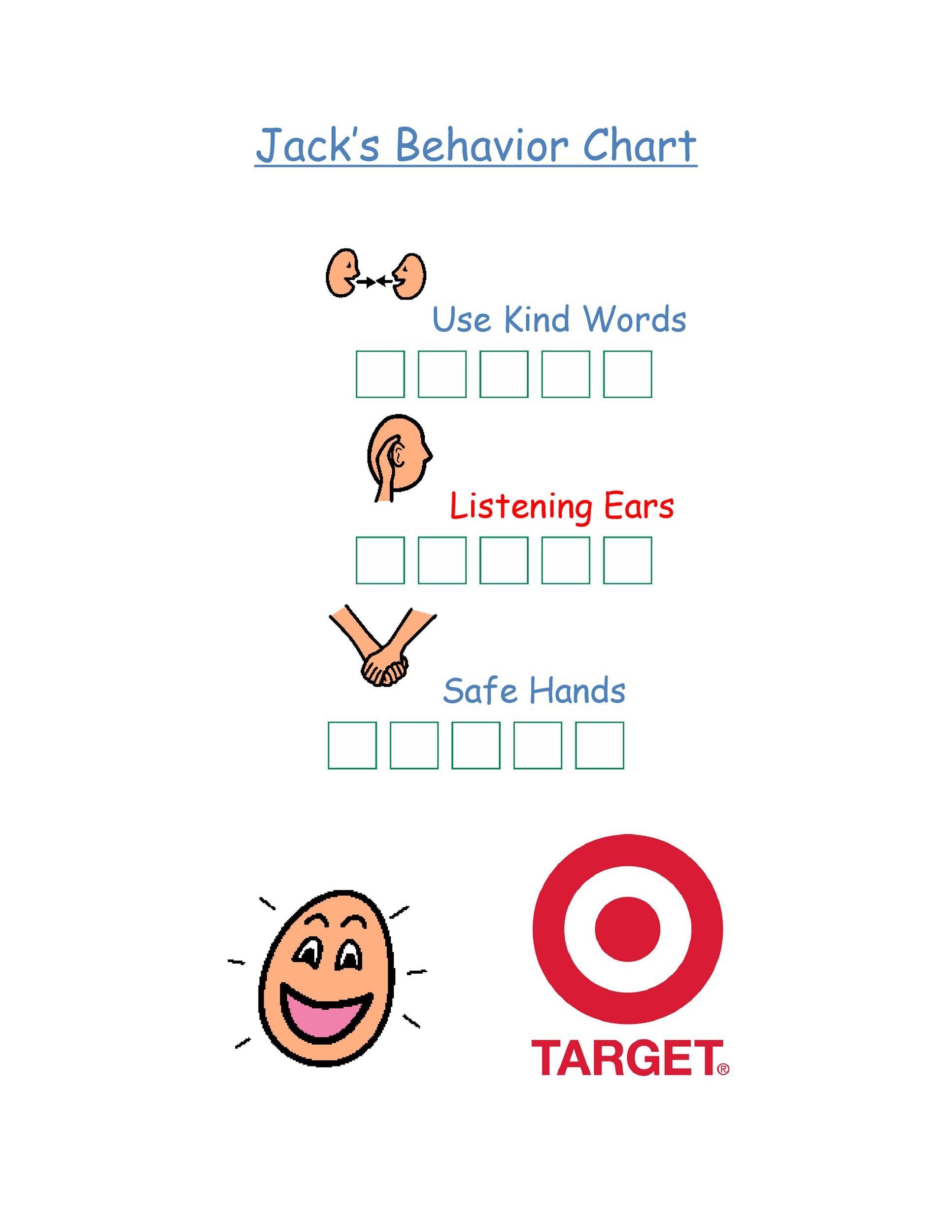 Free behavior chart 11