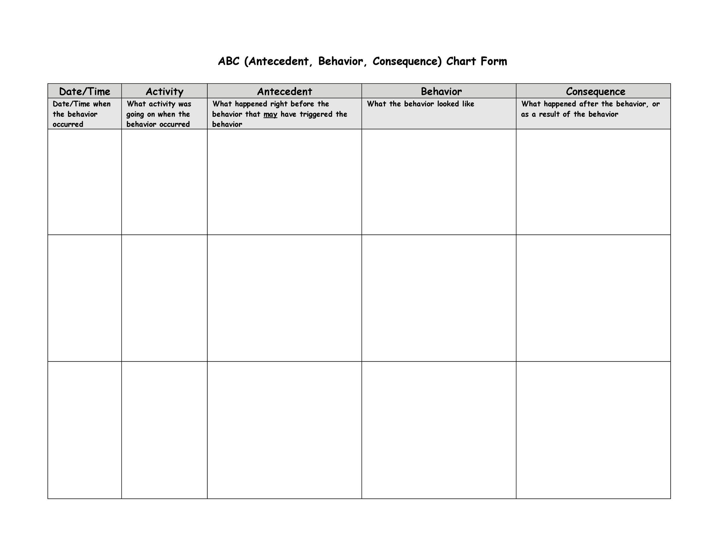 Free behavior chart 12