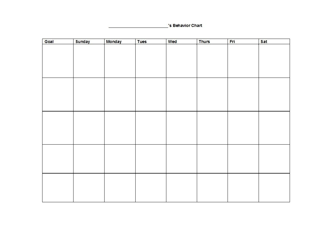 Free behavior chart 23
