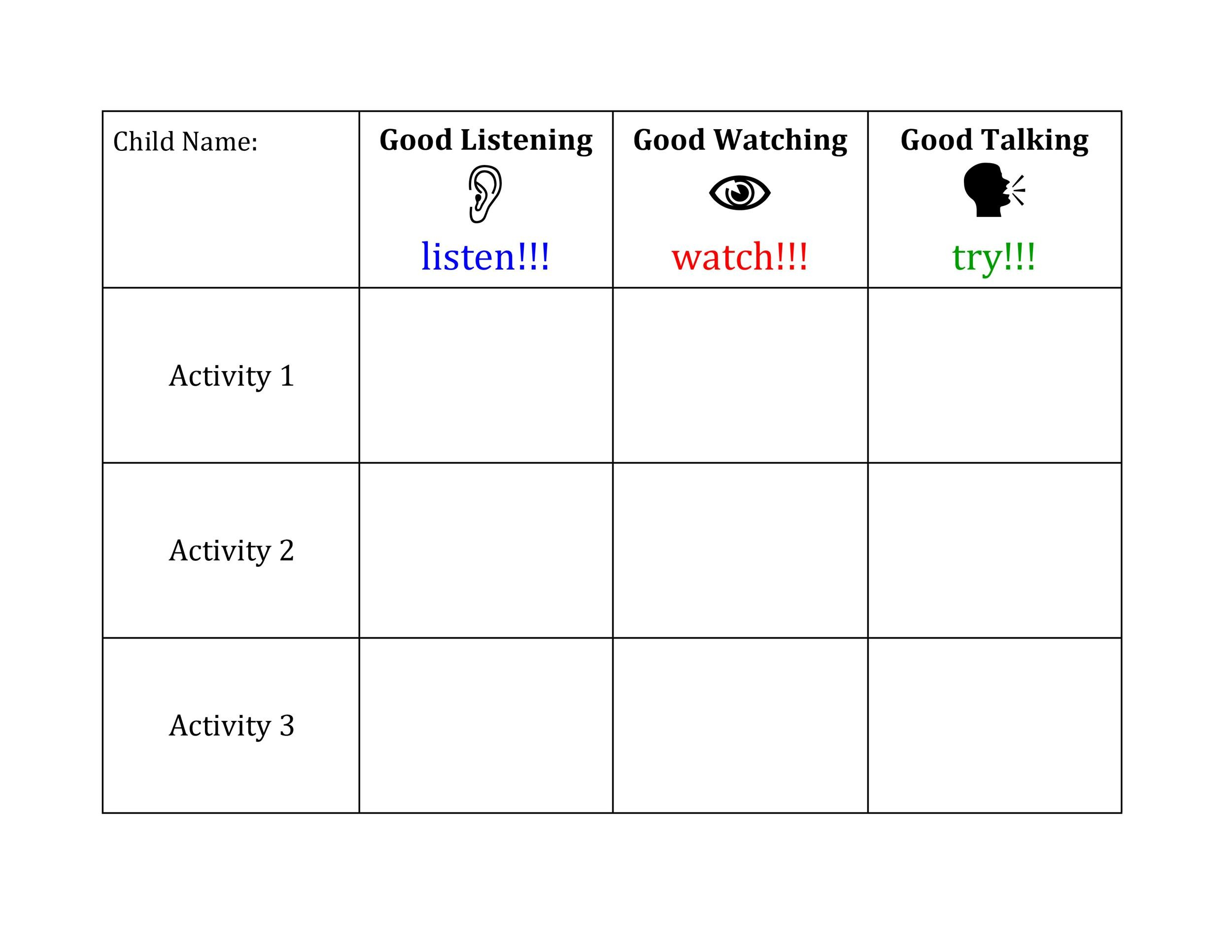 Free behavior chart 27