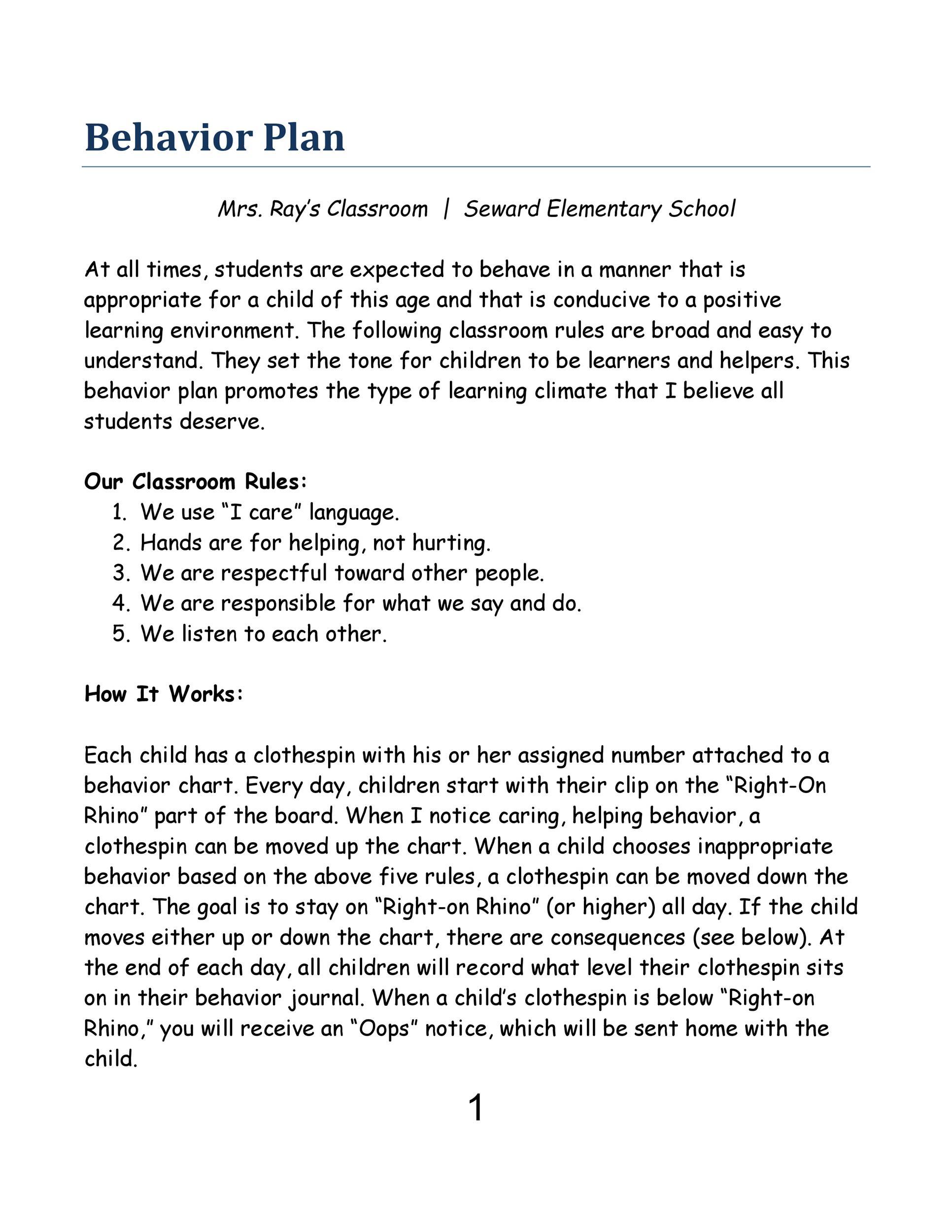 Free behavior chart 29