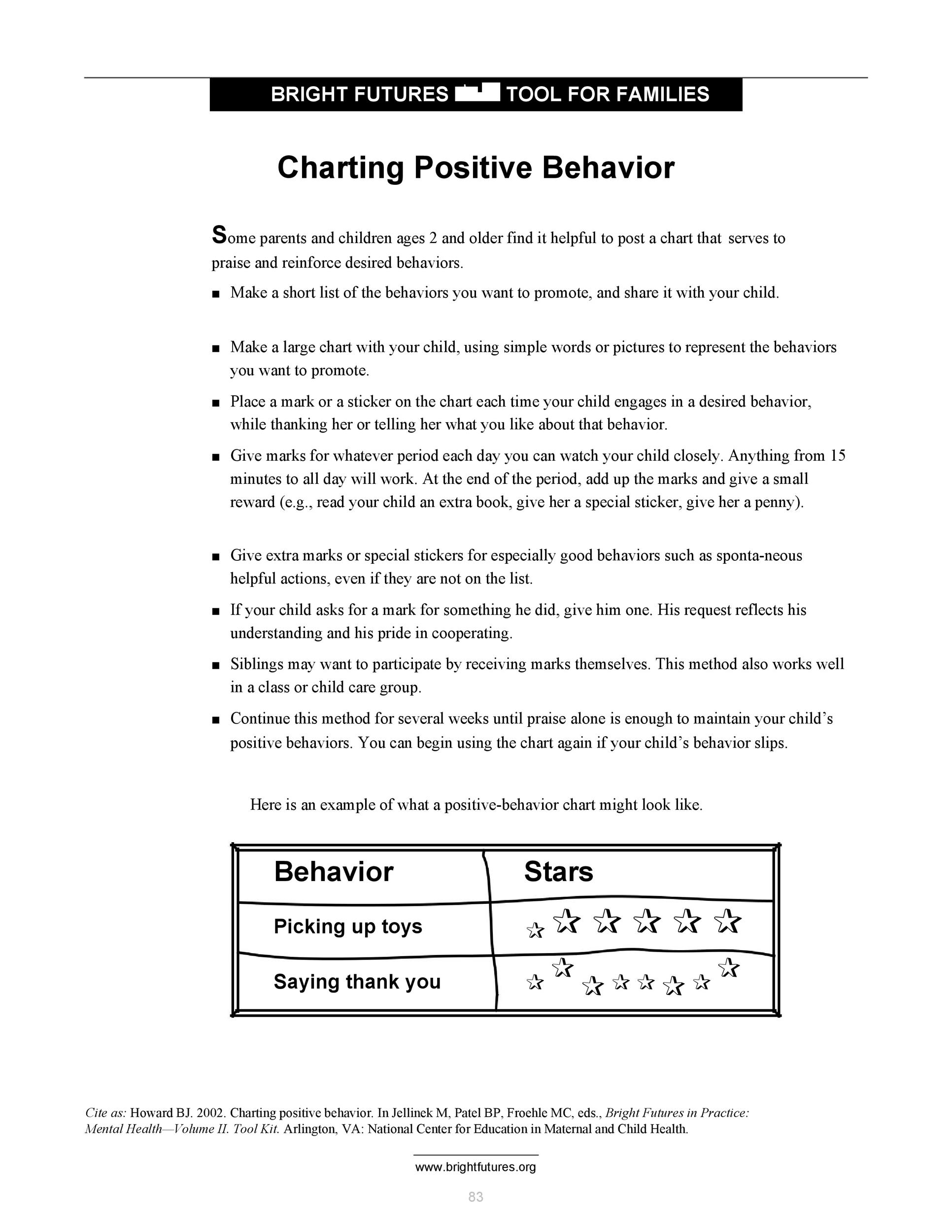 Free behavior chart 32