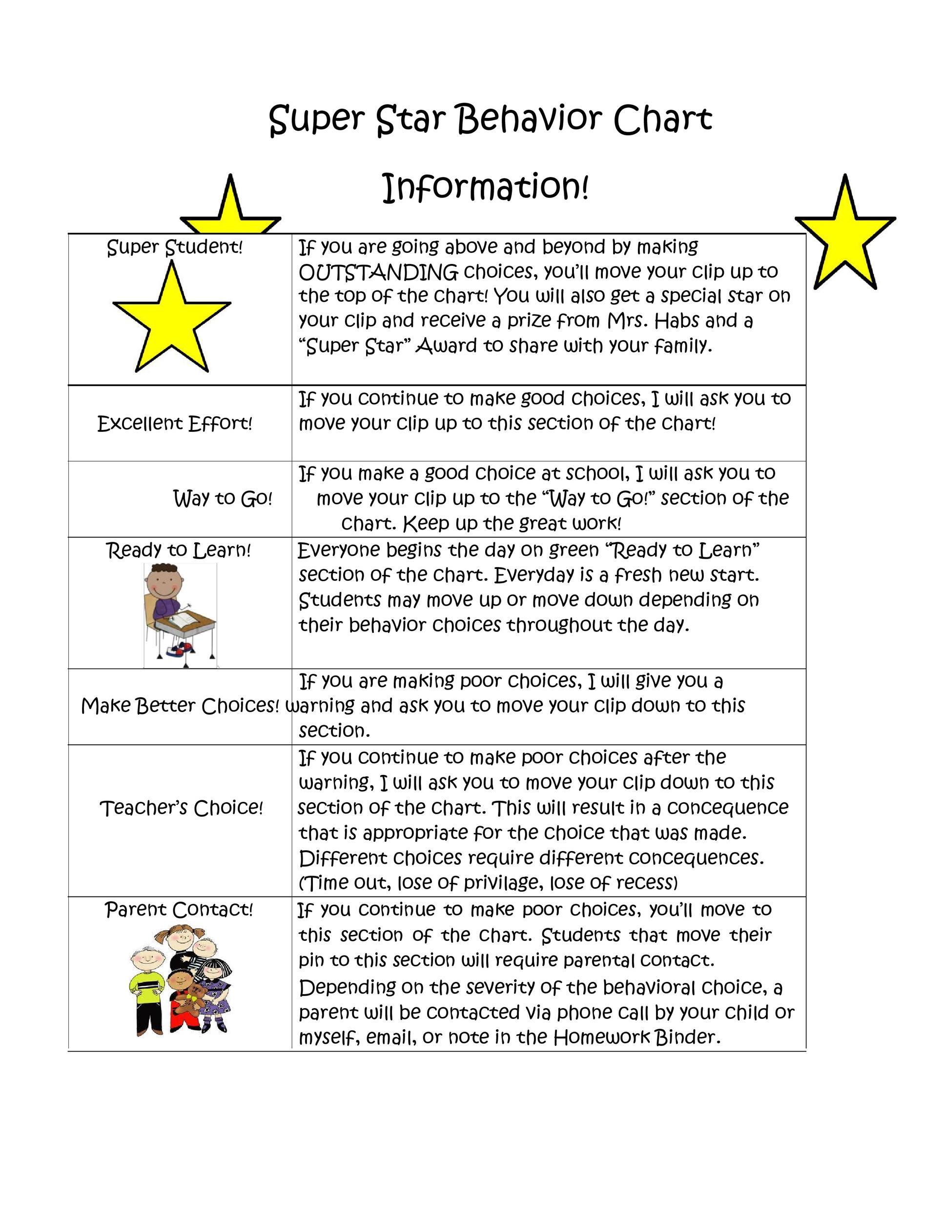 Free behavior chart 36