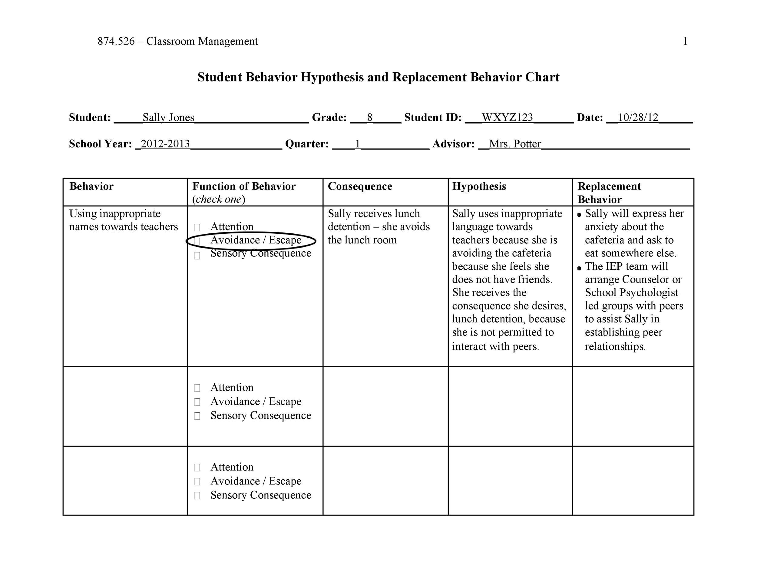 Free behavior chart 42