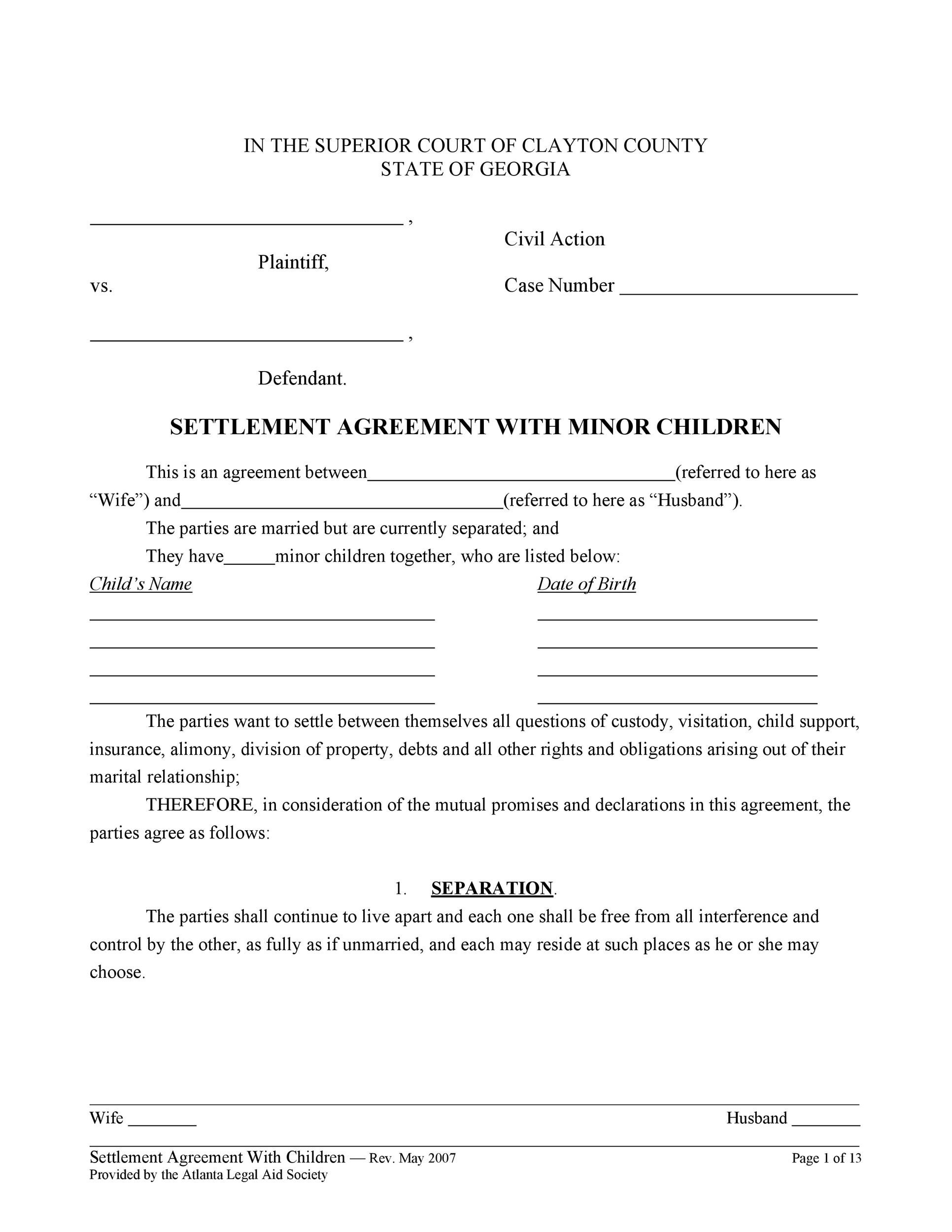 Free child support agreement 16