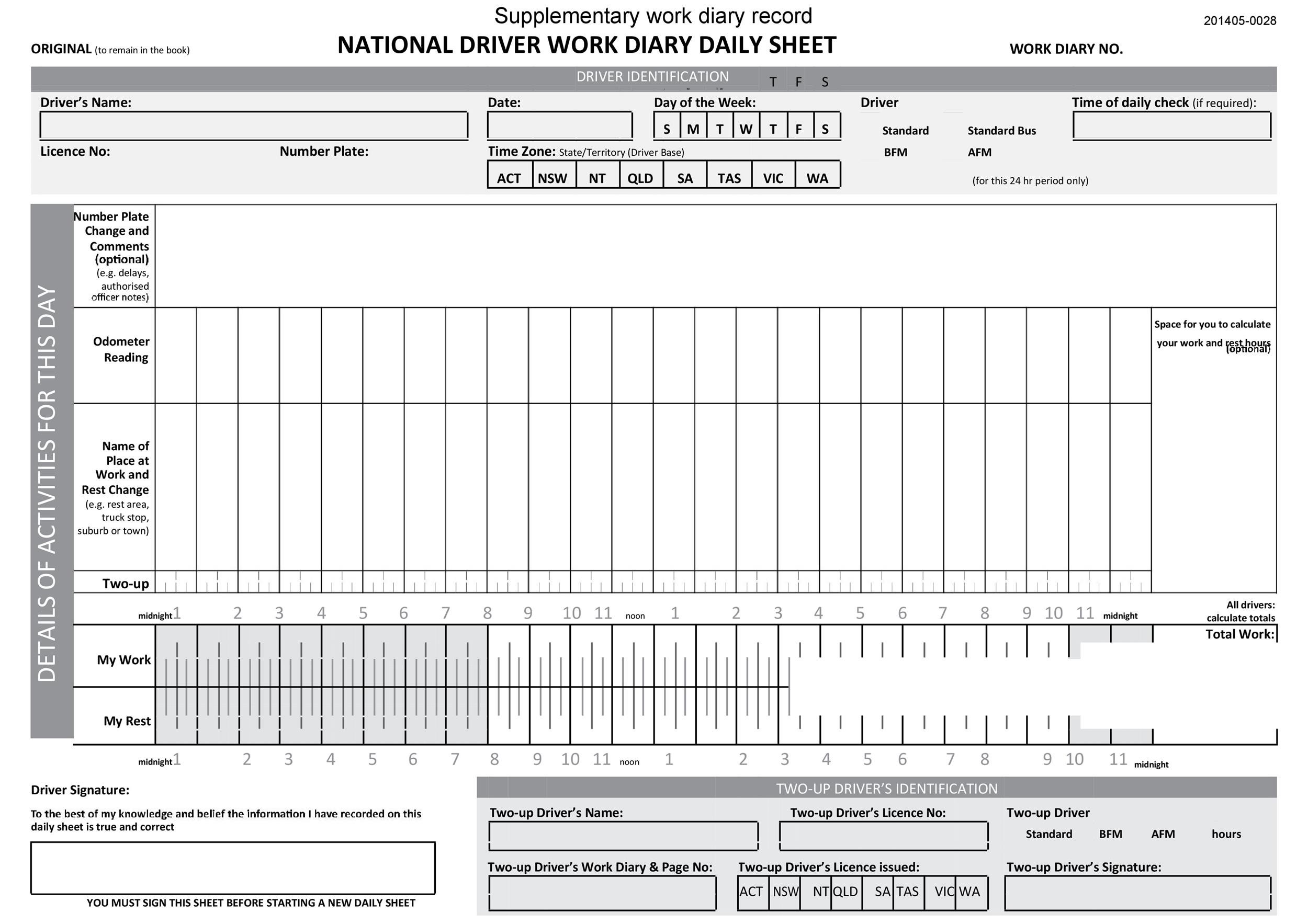 Free drivers daily log 07
