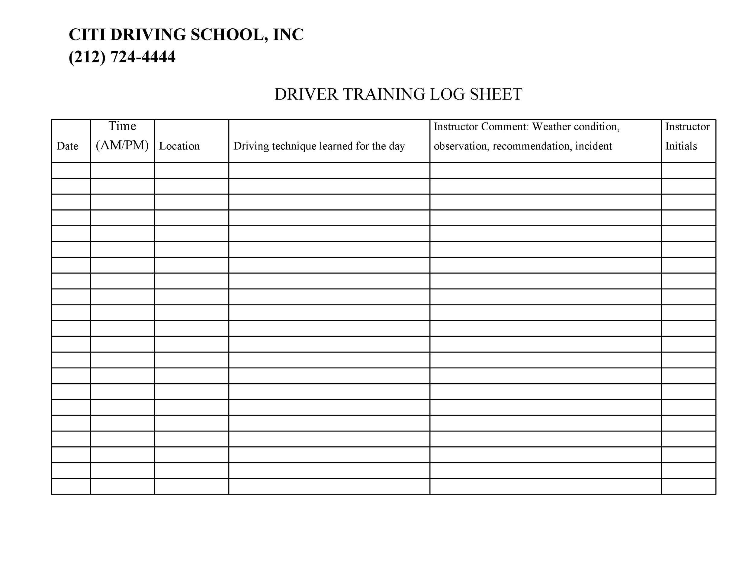 Free drivers daily log 33