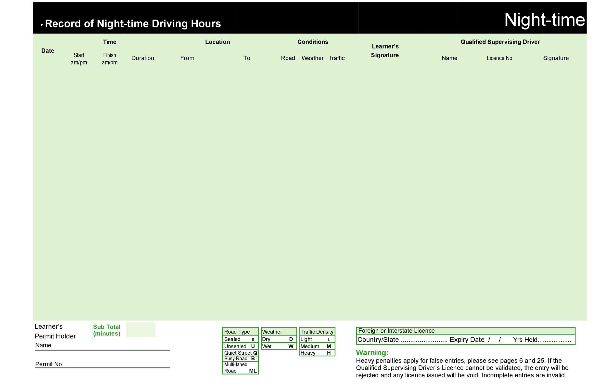Free drivers daily log 39