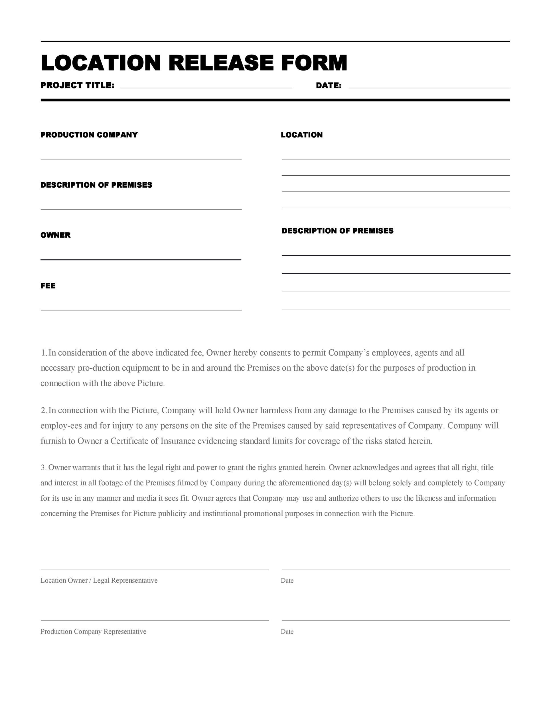 Free location release form 08