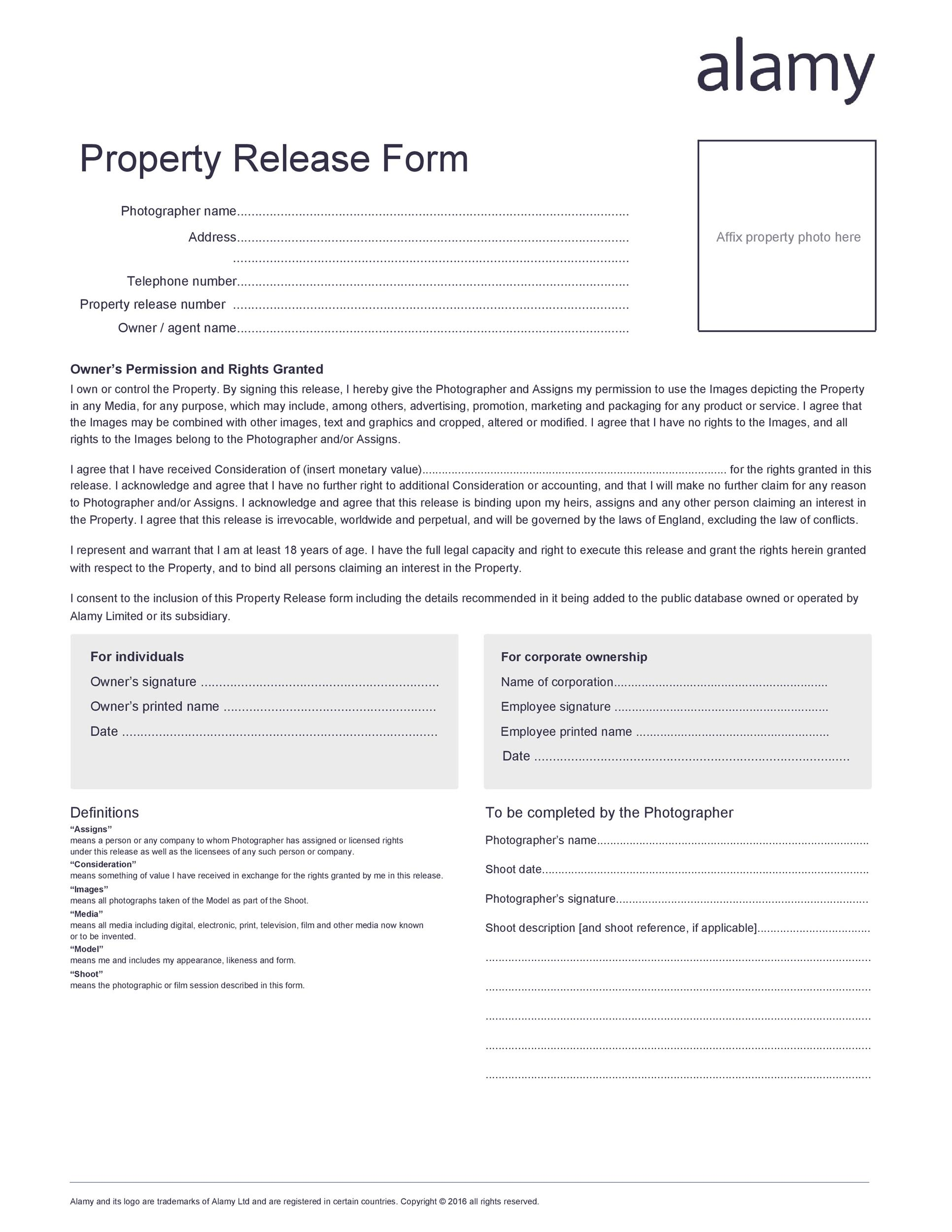 Free location release form 30