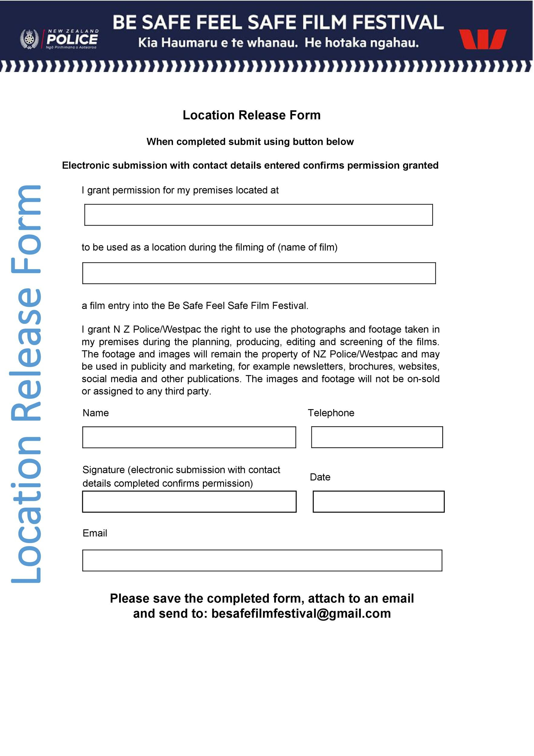 Free location release form 32