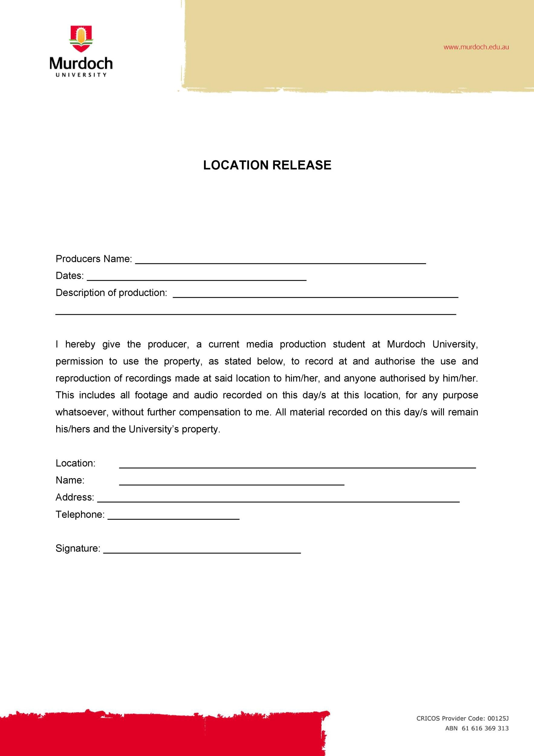 Free location release form 46