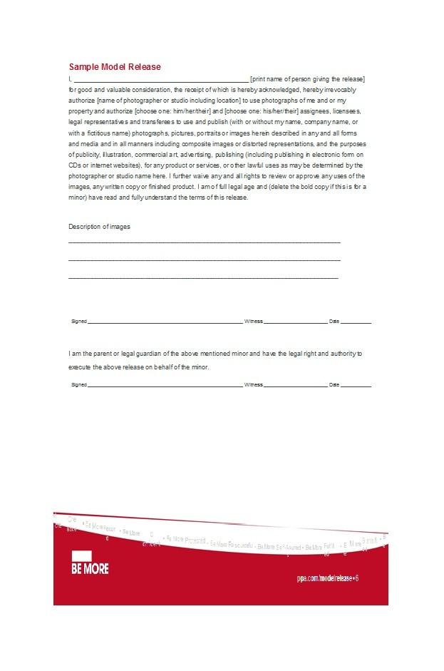 Free model release form 01