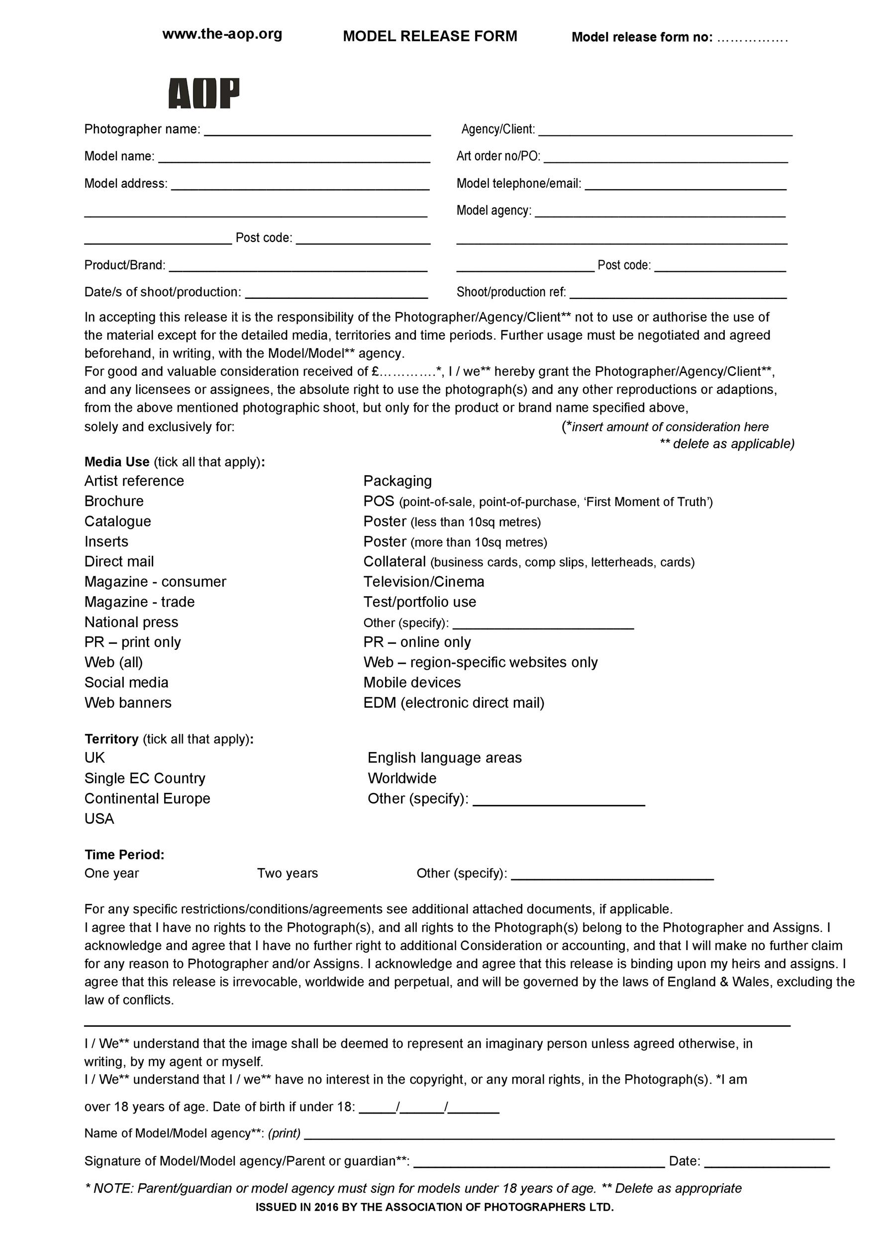 Free model release form 19