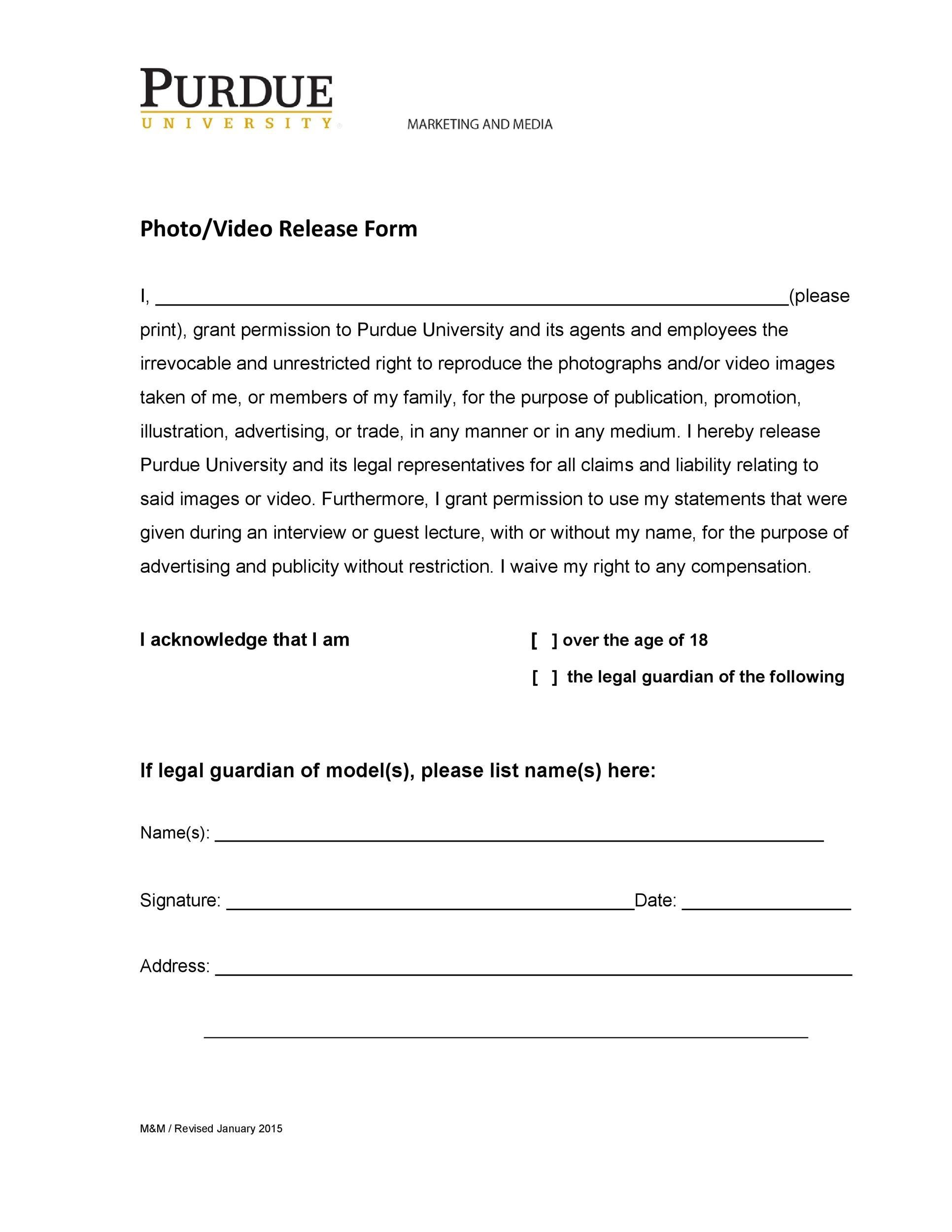 Free model release form 21
