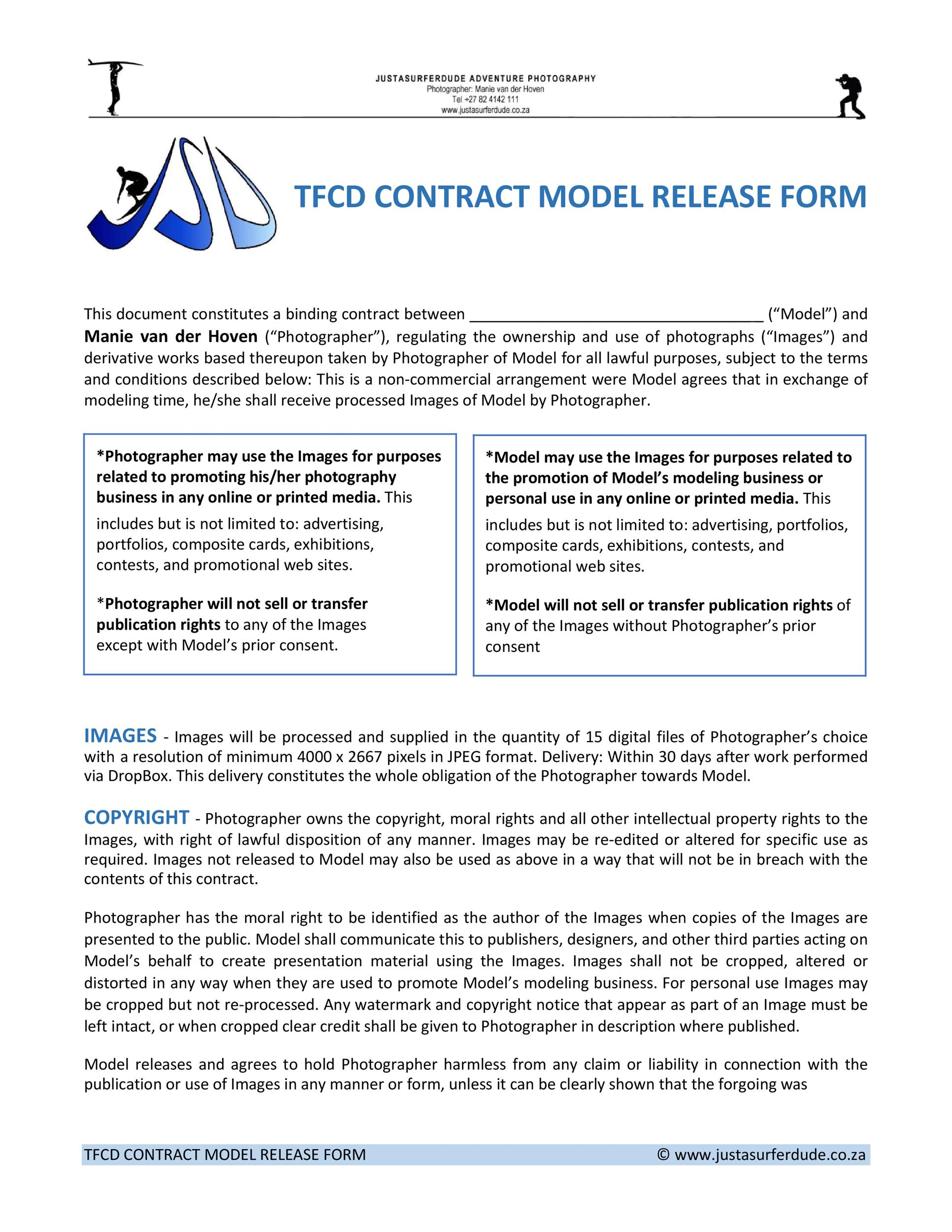 Free model release form 22