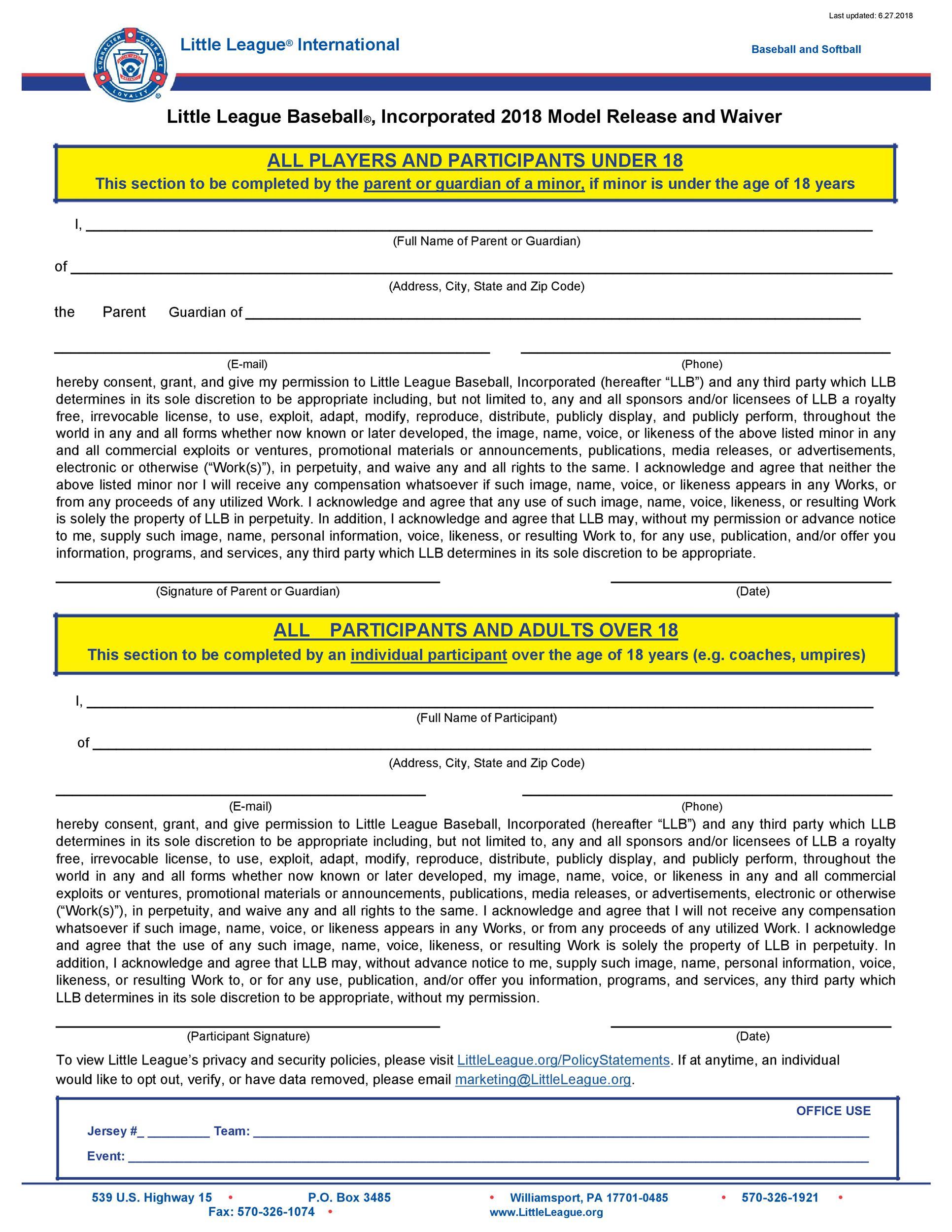 Free model release form 24
