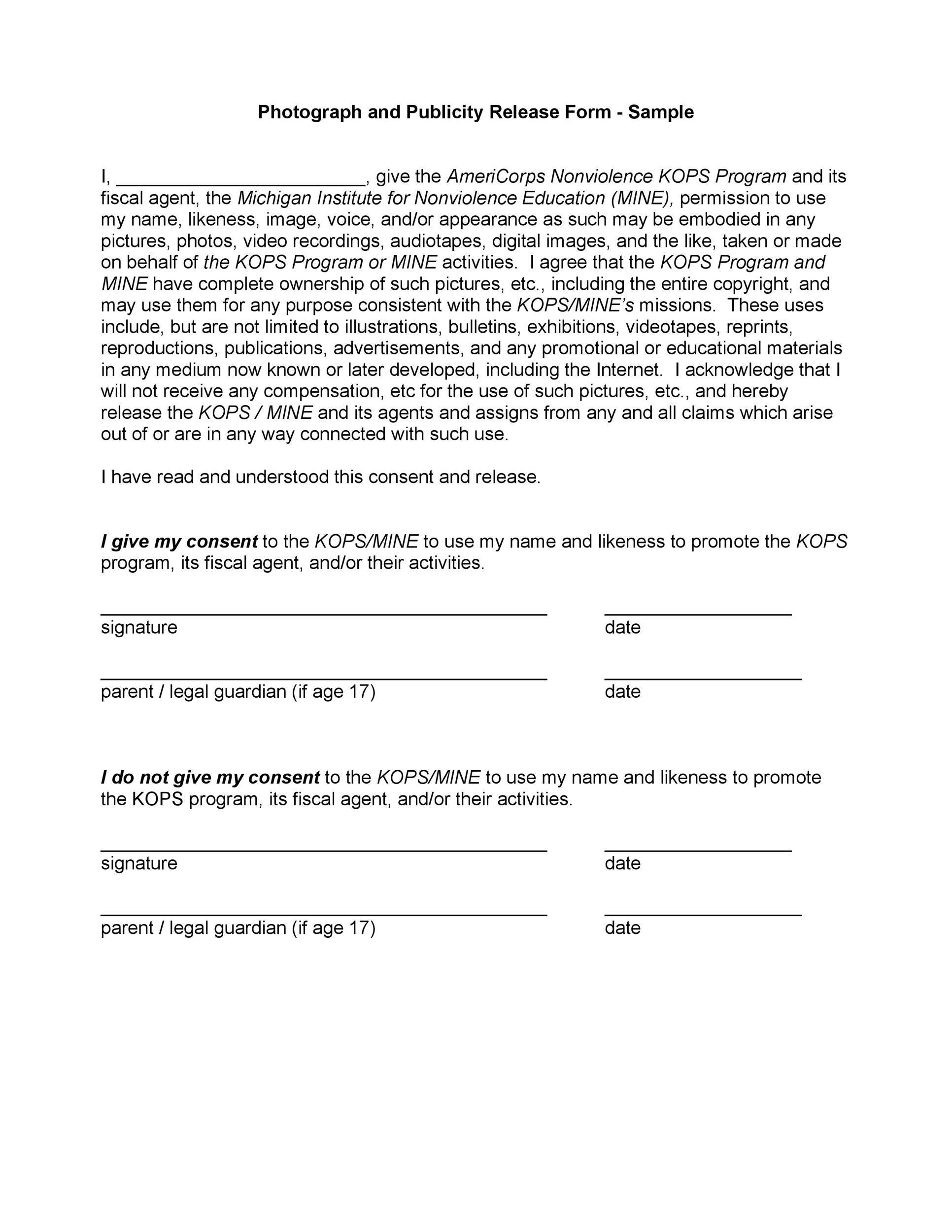 Free model release form 35