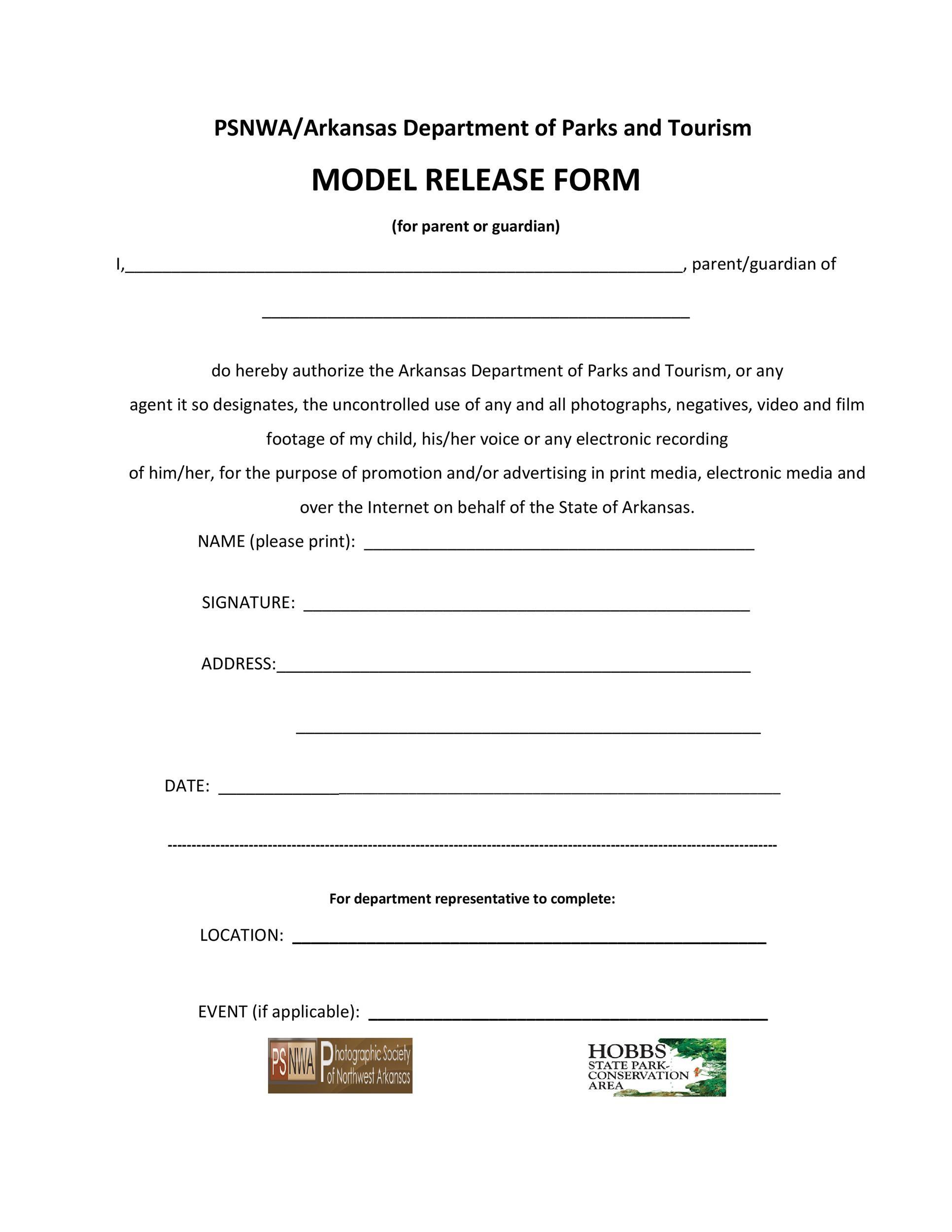 Free model release form 41