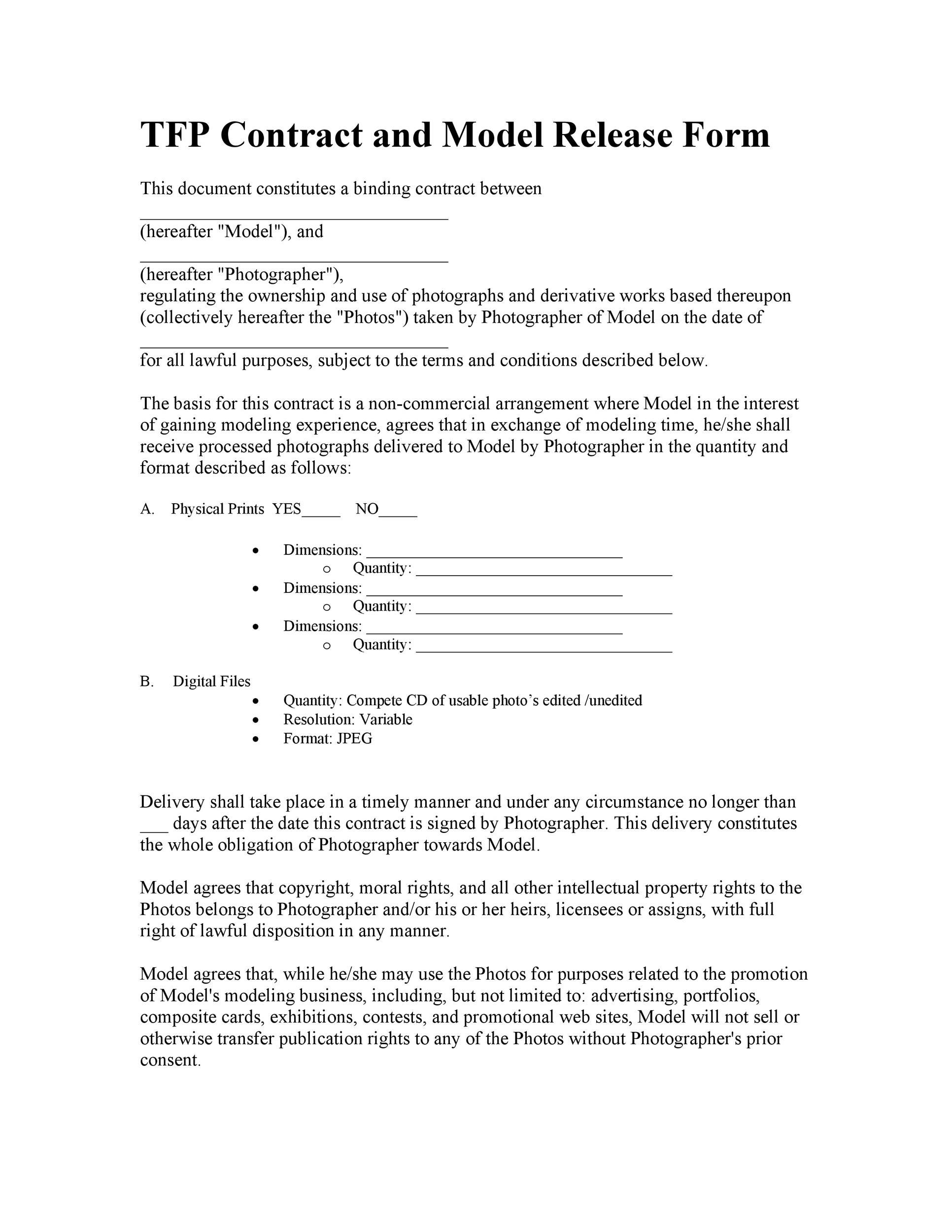 Free model release form 46