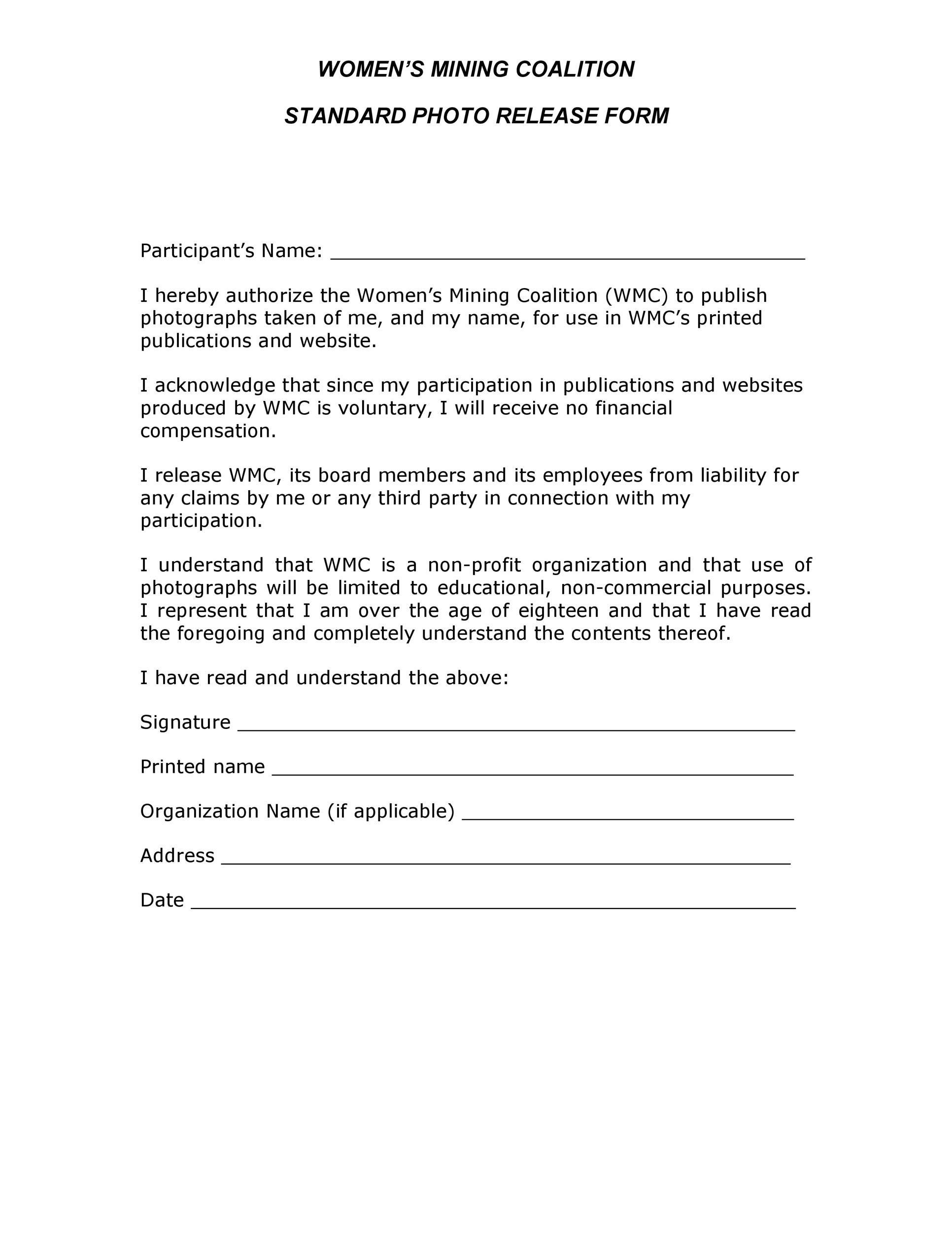 Free model release form 48