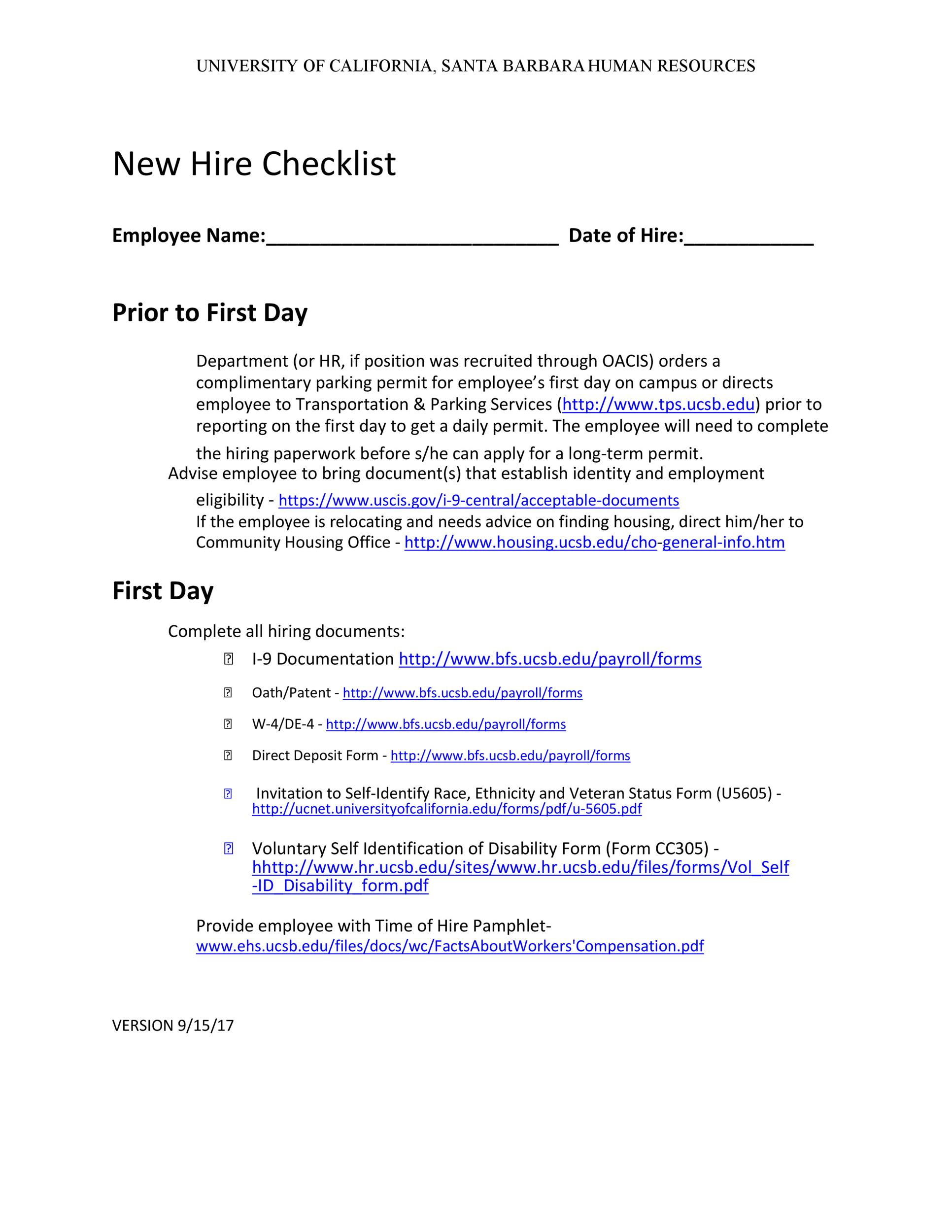 Free new hire checklist 04