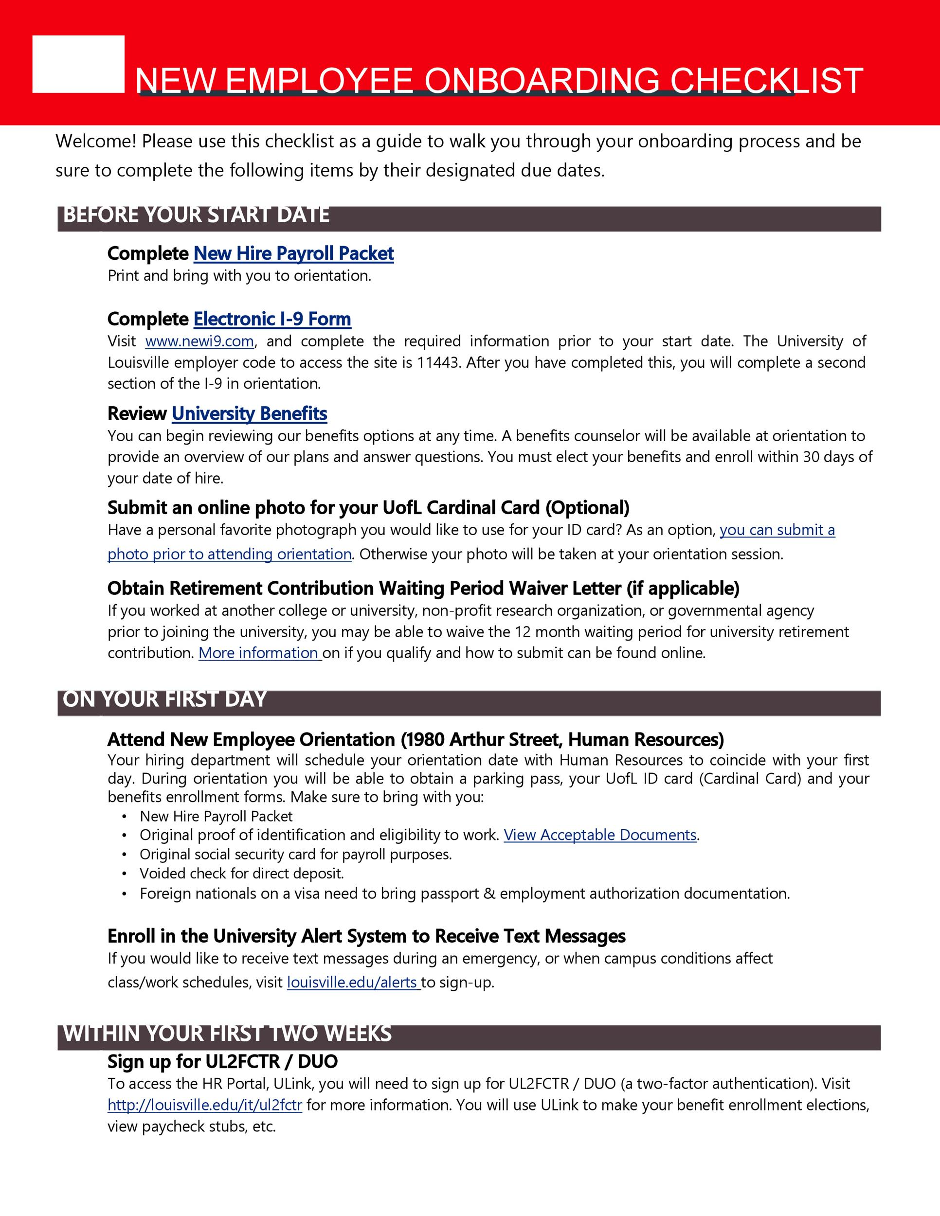 Free new hire checklist 09