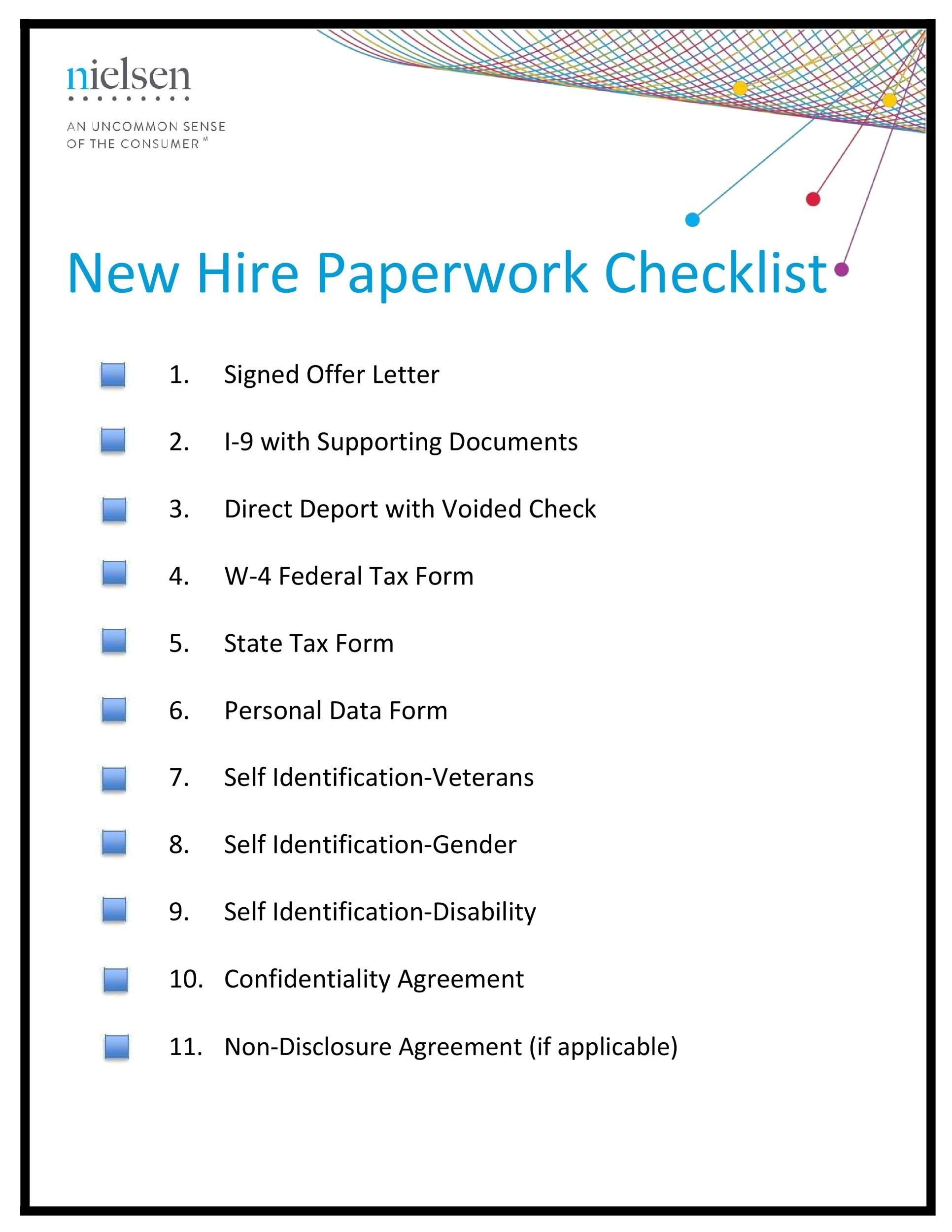 Free new hire checklist 10