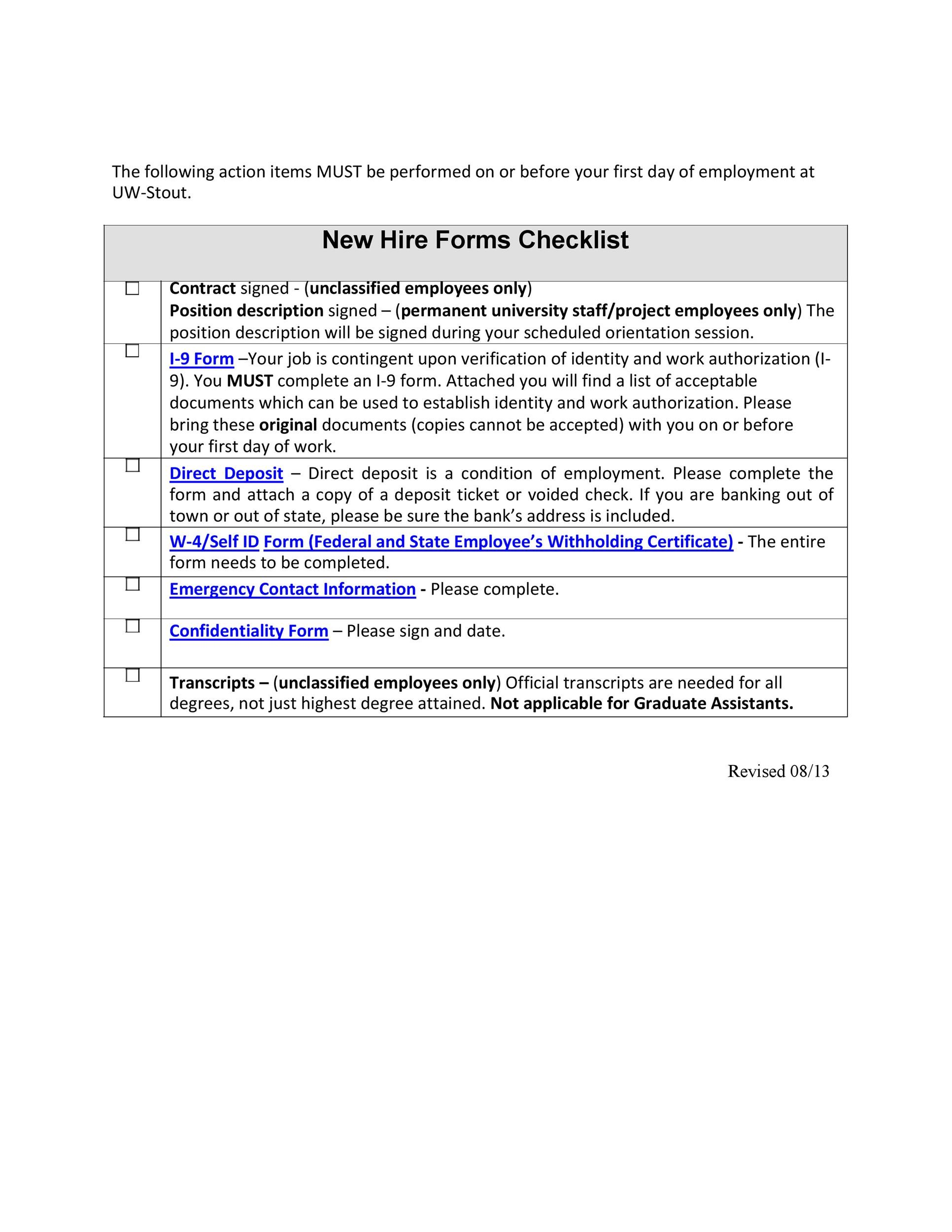 Free new hire checklist 23
