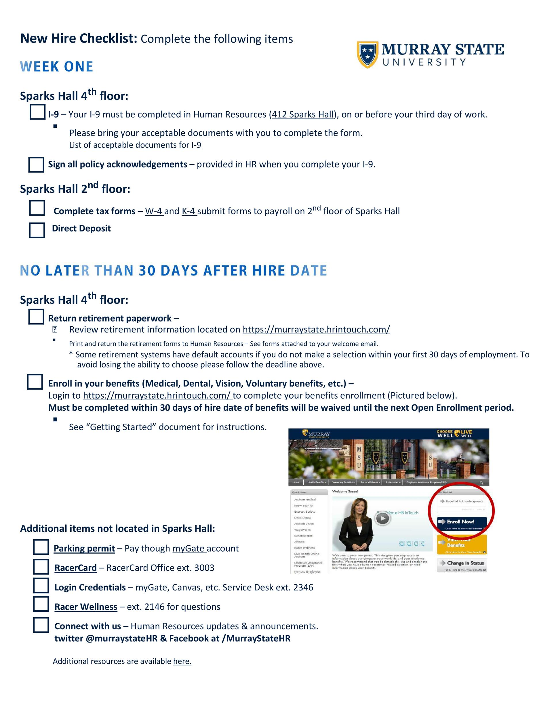 Free new hire checklist 27