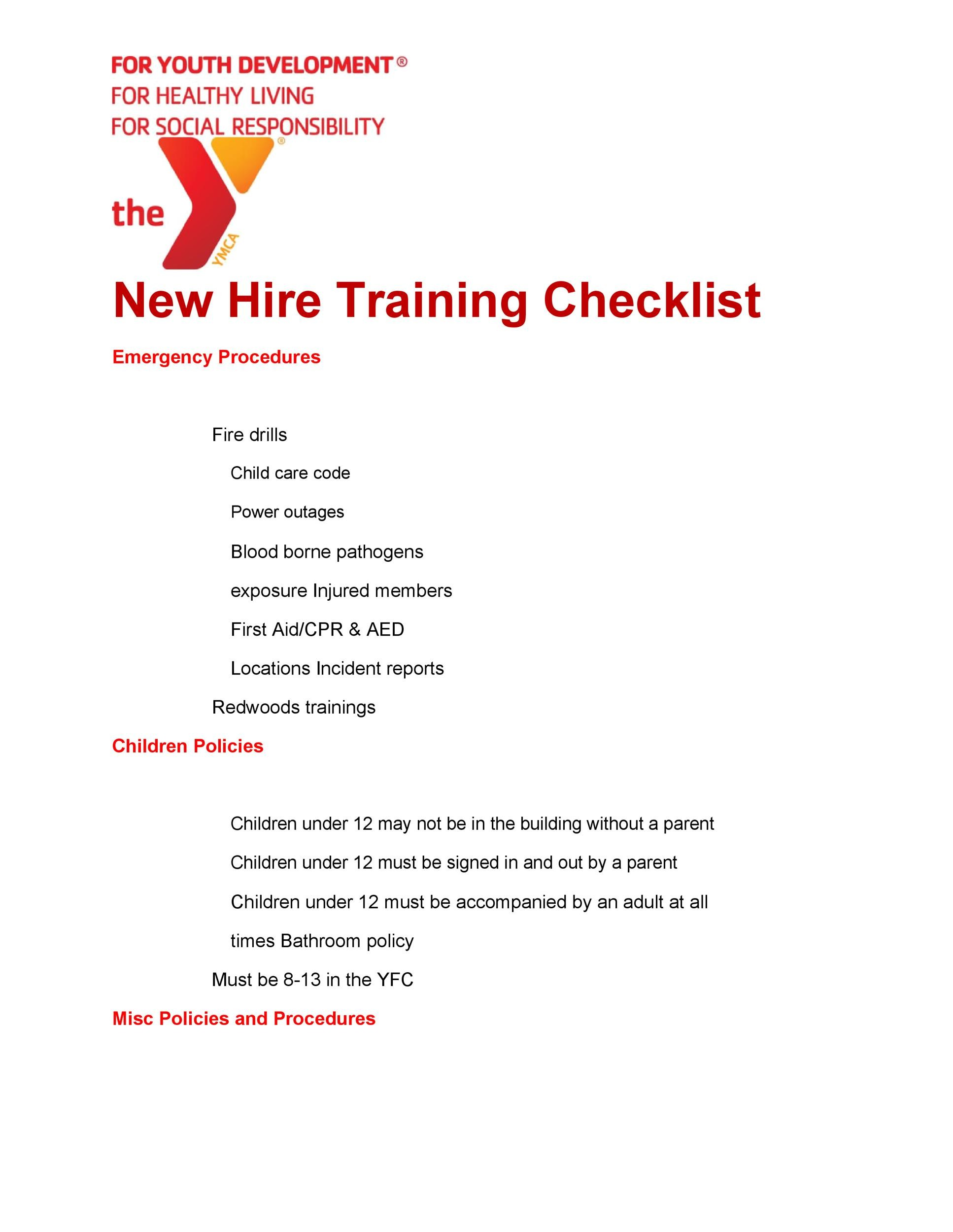 Free new hire checklist 29