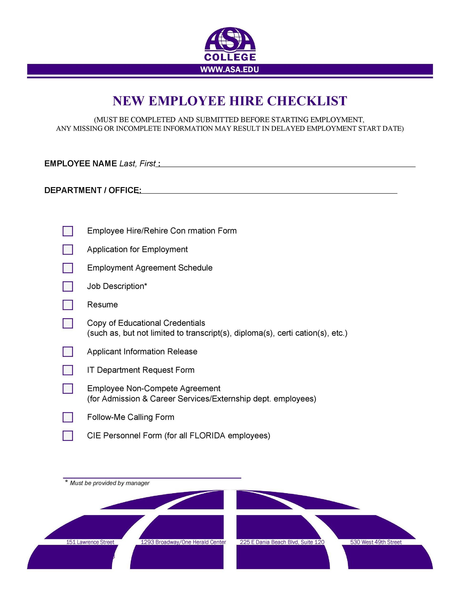 Free new hire checklist 41