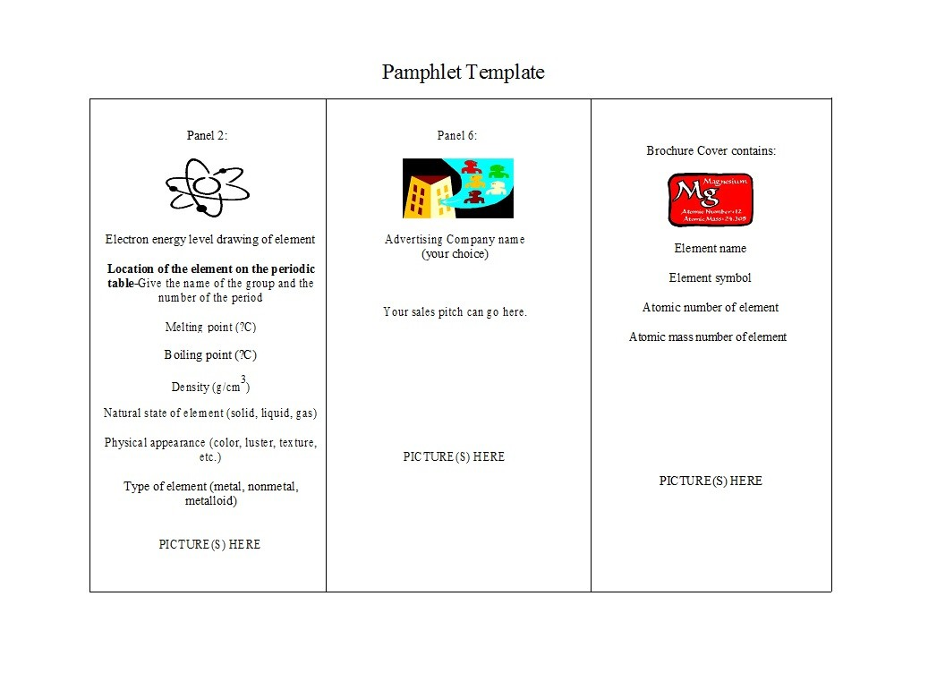 Free pamphlet template 03