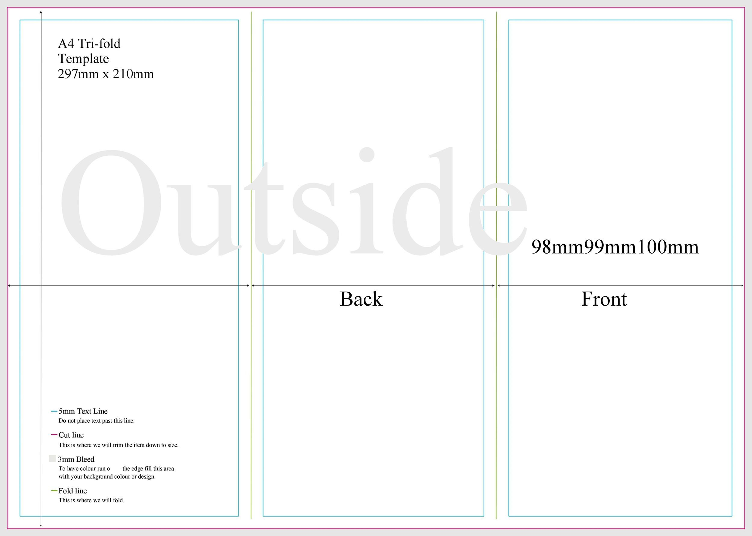 Free pamphlet template 04