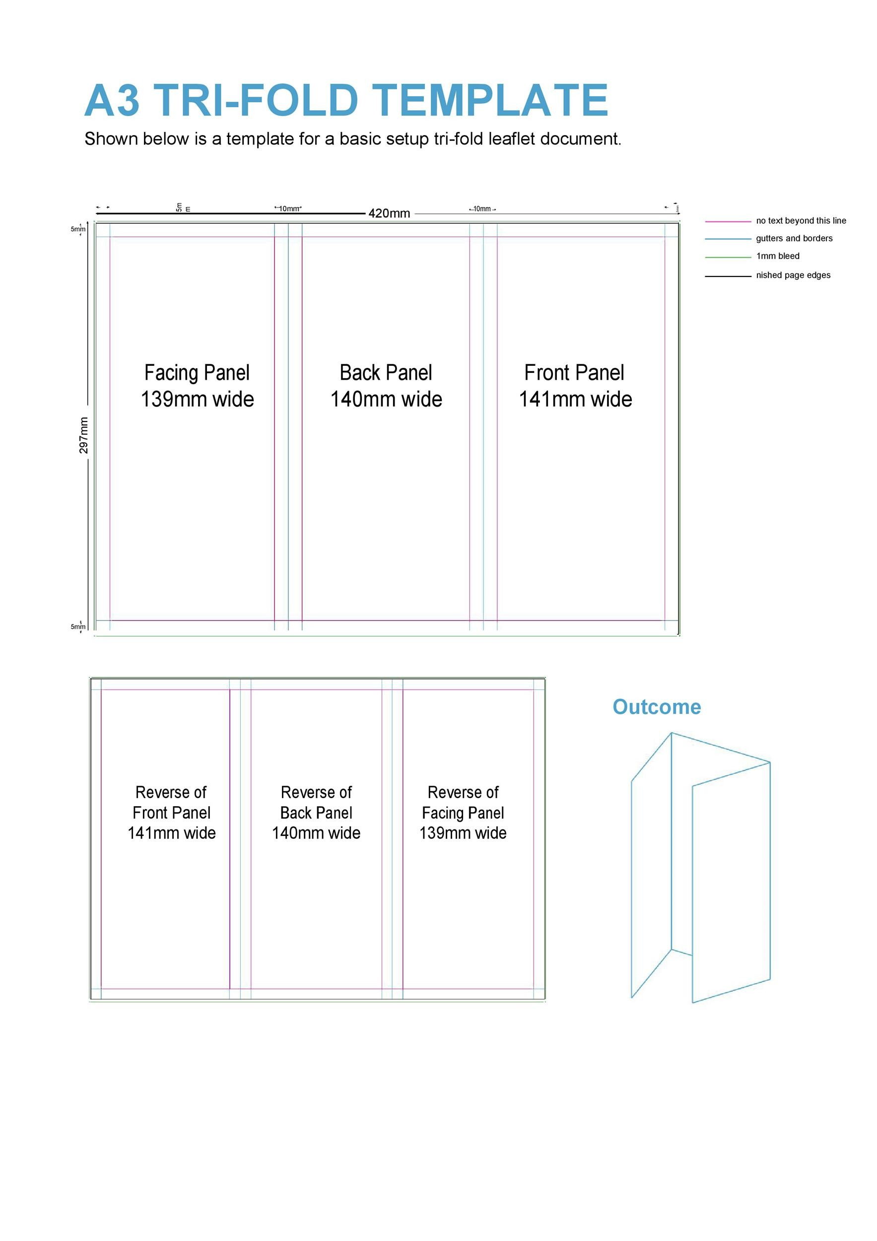Free pamphlet template 07