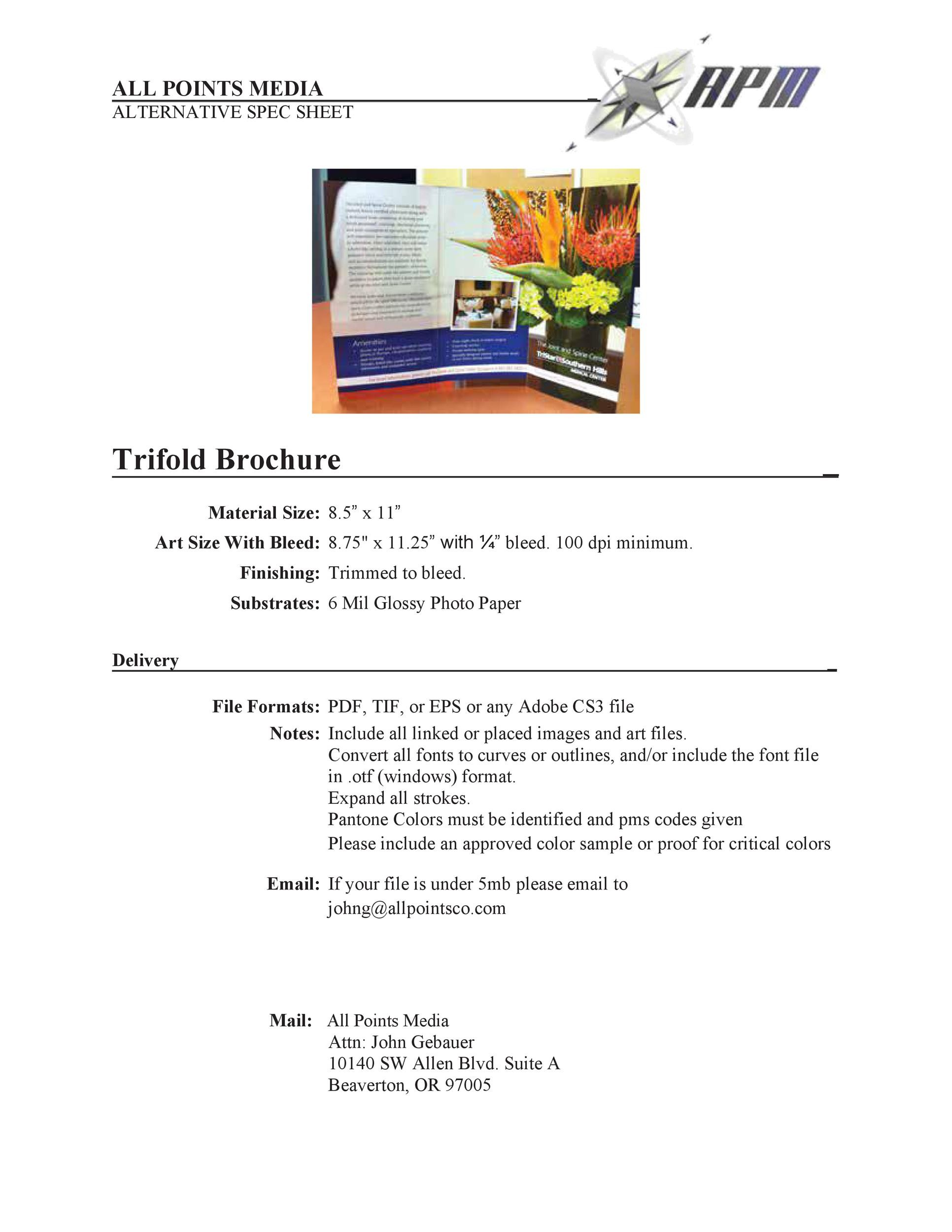 Free pamphlet template 12