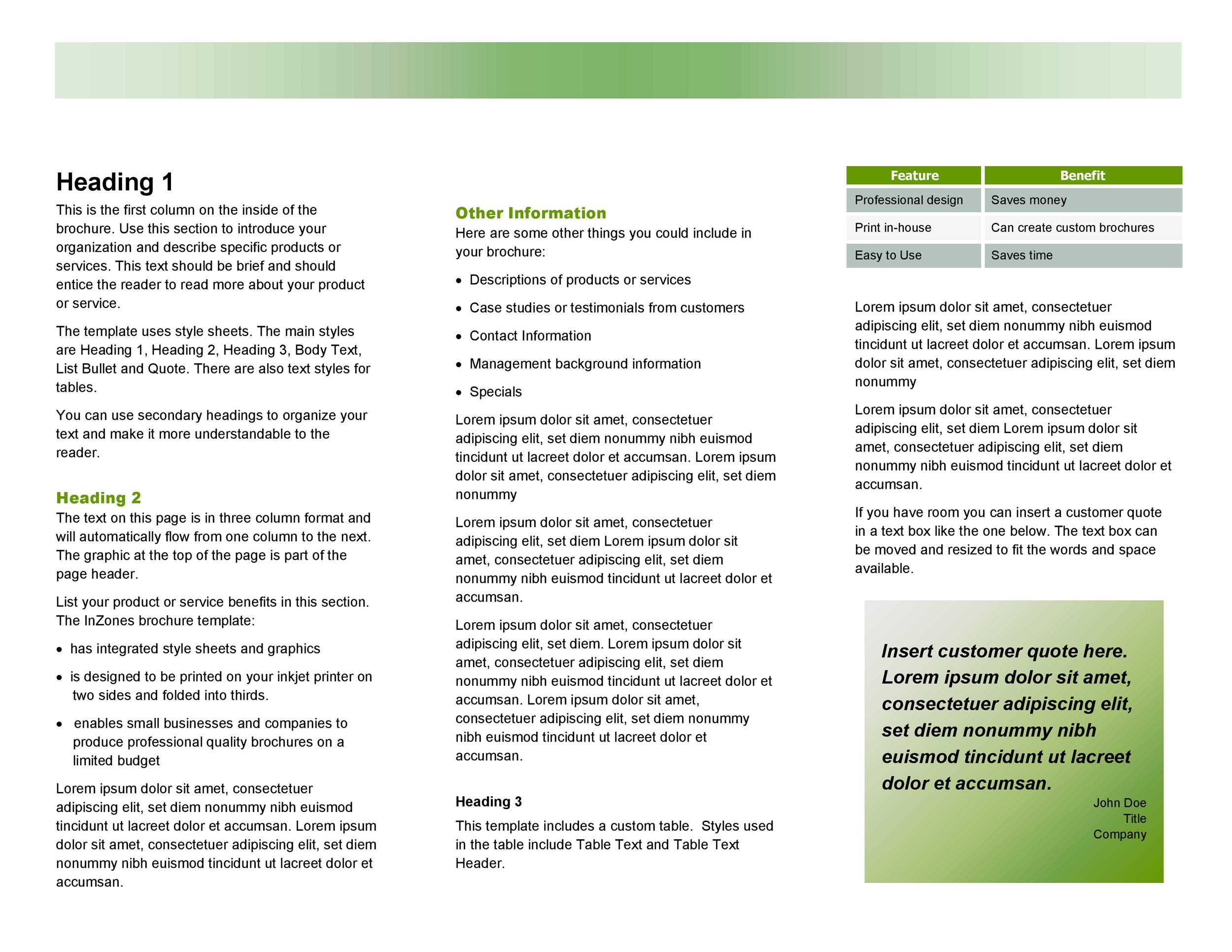 Free pamphlet template 15