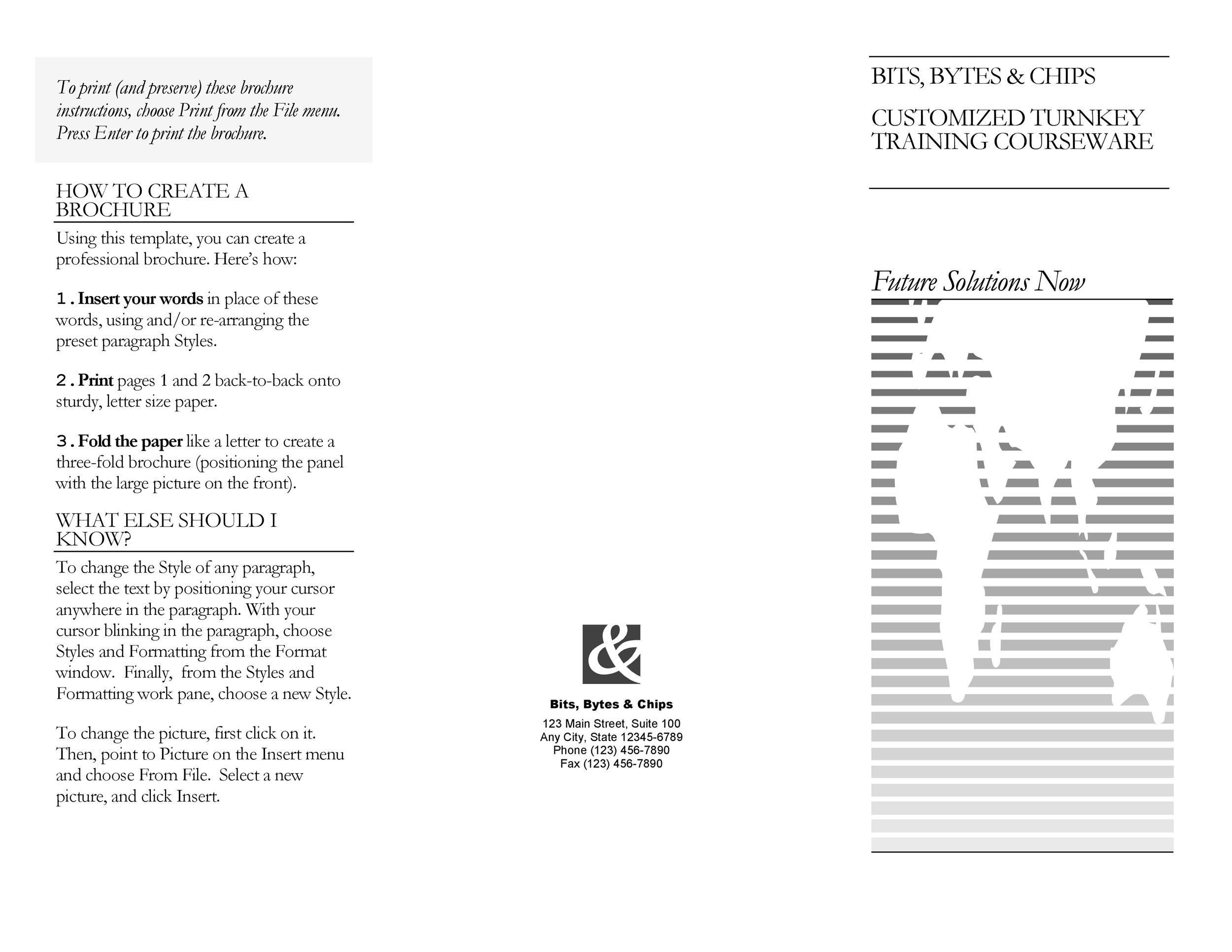 Free pamphlet template 17