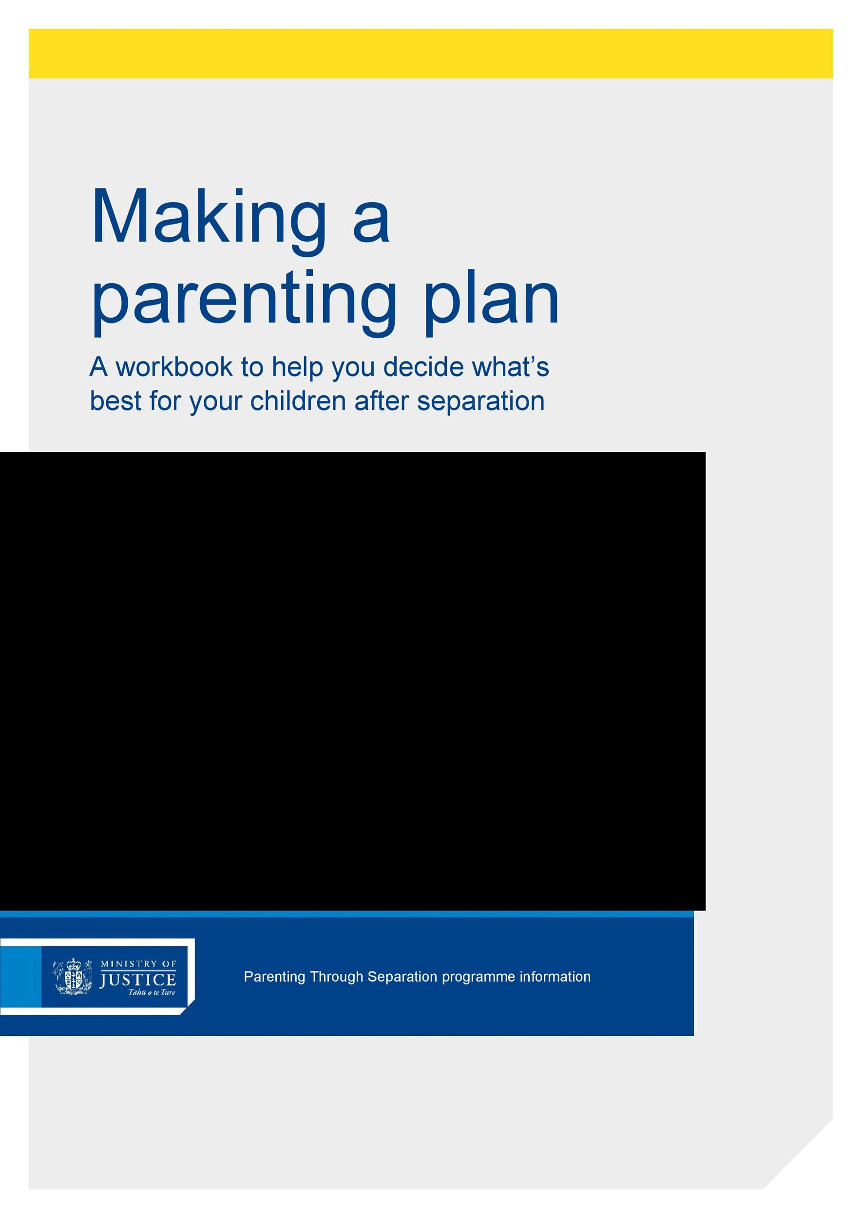 Free parenting plan template 02
