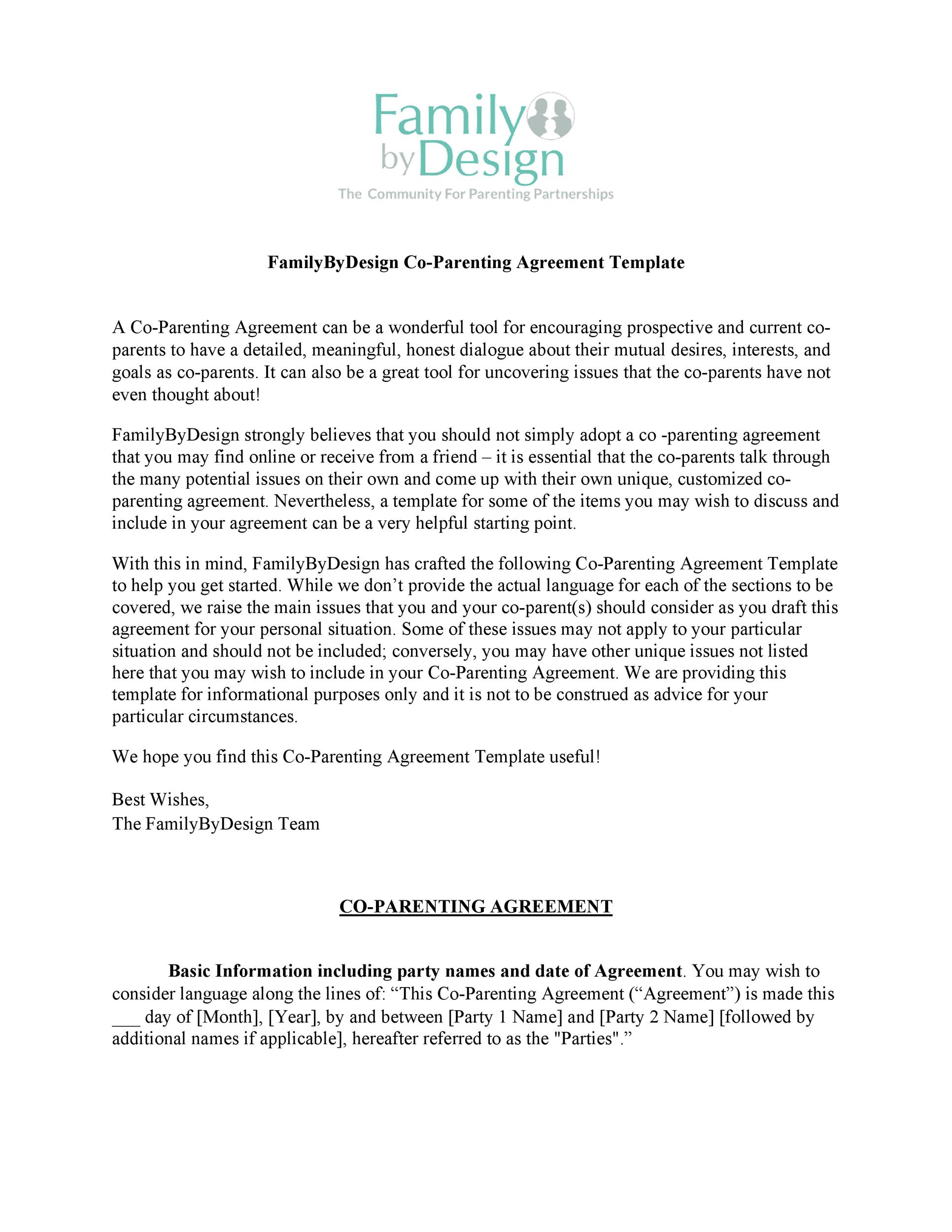 photograph regarding Free Printable Parenting Plan known as 49 Cost-free Parenting System Custody Settlement Templates ᐅ